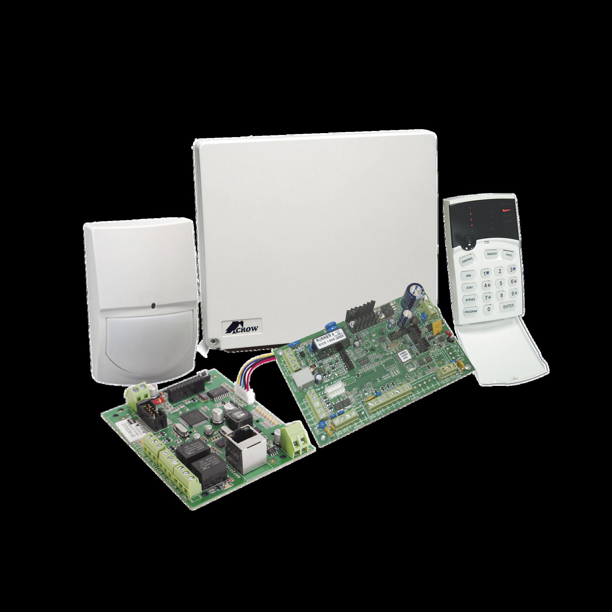 Panel de Alarma RUNNER de 4 a 8 Zonas con Comunicador Ethernet