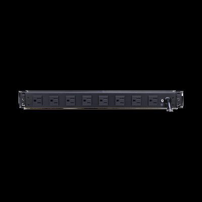 PDU Básico Para Distribución de Energía, Con 8 Tomas NEMA 5-15R Traseras, 1UR, 15 Amp, 120 Vca
