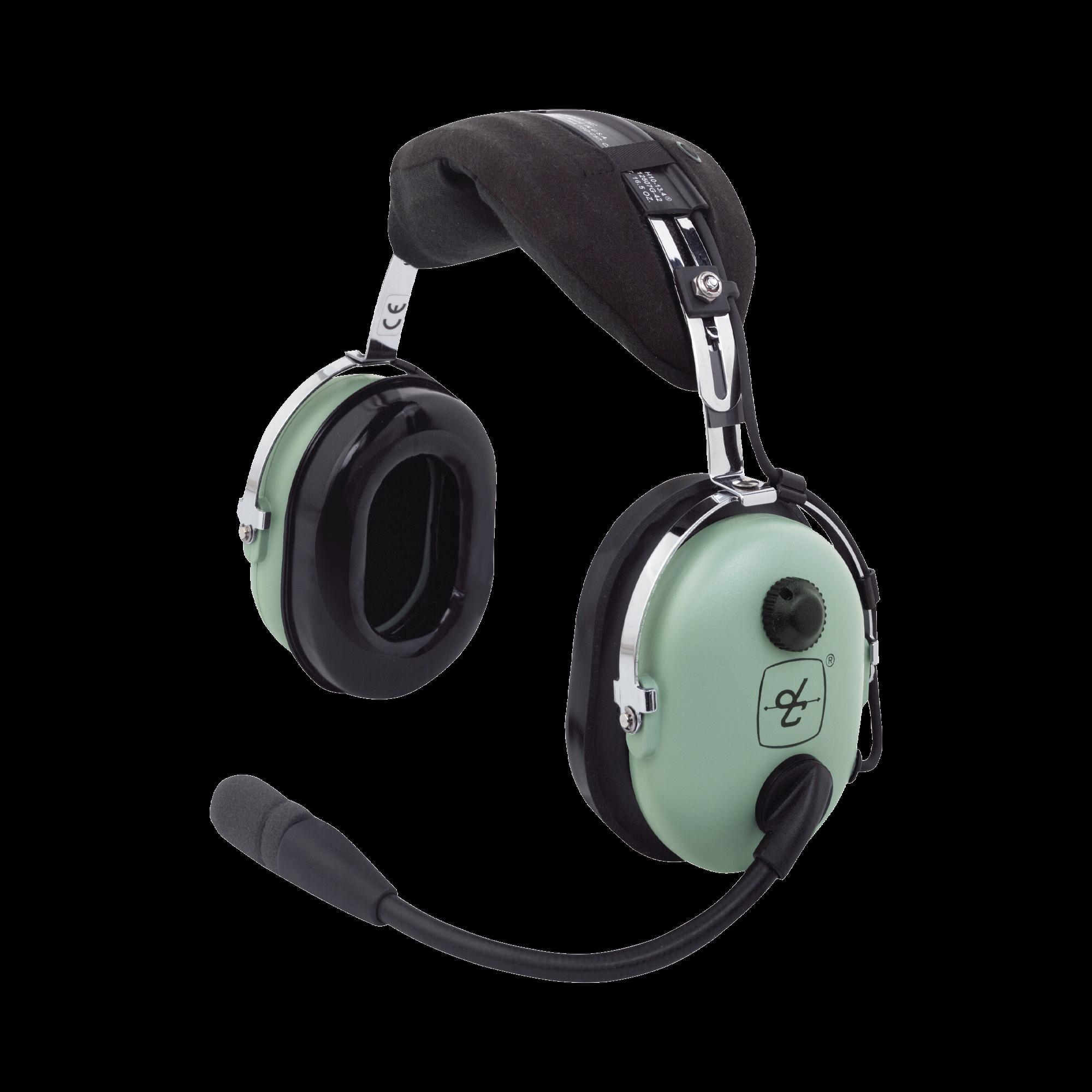 Auriculares de ala fija con atenuacion de ruido pasivo para radios aereos