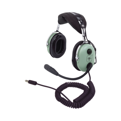 Auriculares con atenuación de ruido pasivo para radios aéreos en helicópteros