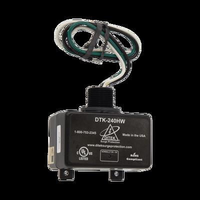 Dispositivo de protección contra sobretensiones, con cable duro 220-240V