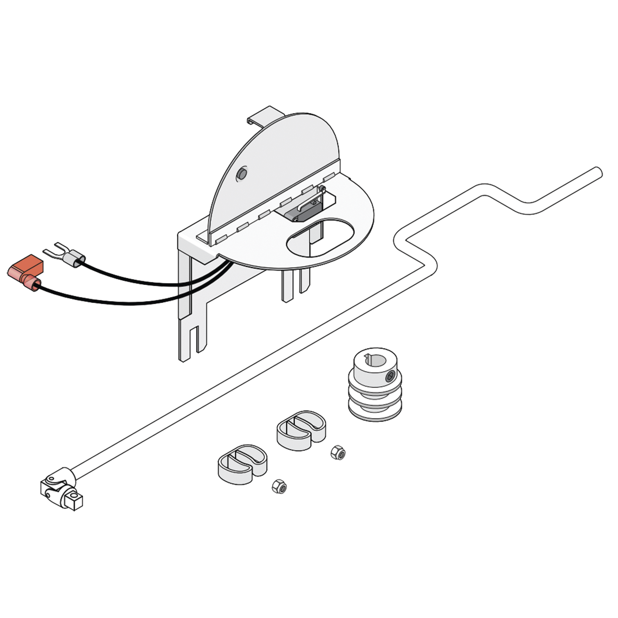 Kit de operacion manual para barrera 1601
