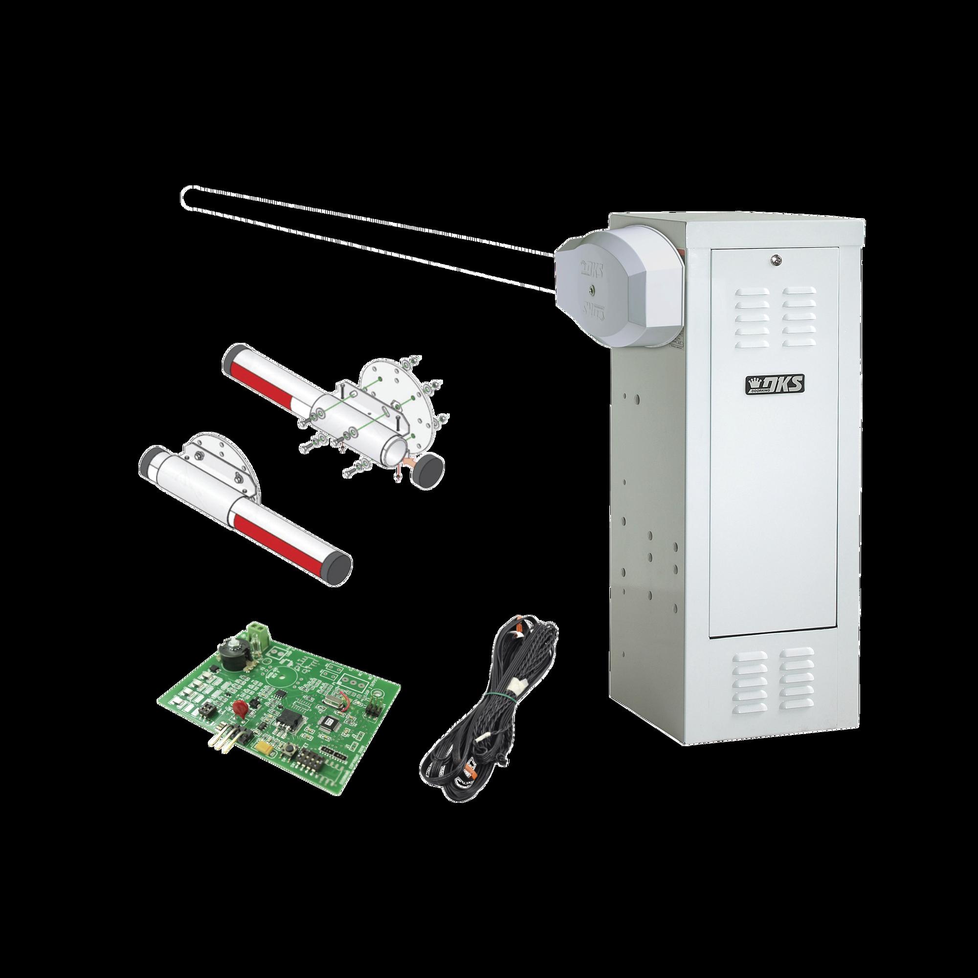 Kit Barrera 1601 Blanca / Mástil de aluminio 4 metros/Incluye: sensor de masa y loop.