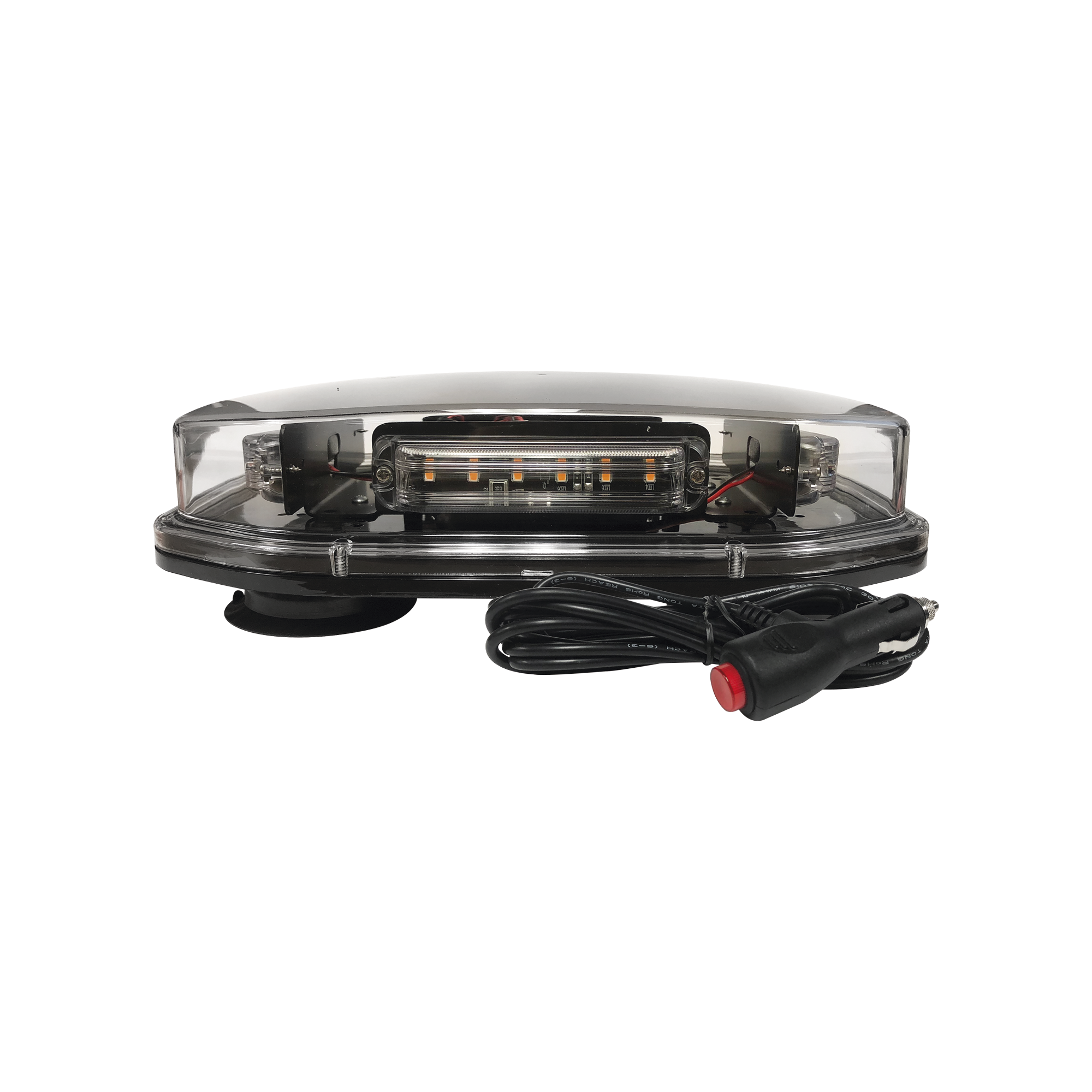 Mini barra de luces estroboscopica, color ambar, montaje magnetico, 12 VCD,