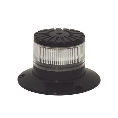 Baliza LED compacta discreta, domo claro, color ambar/claro