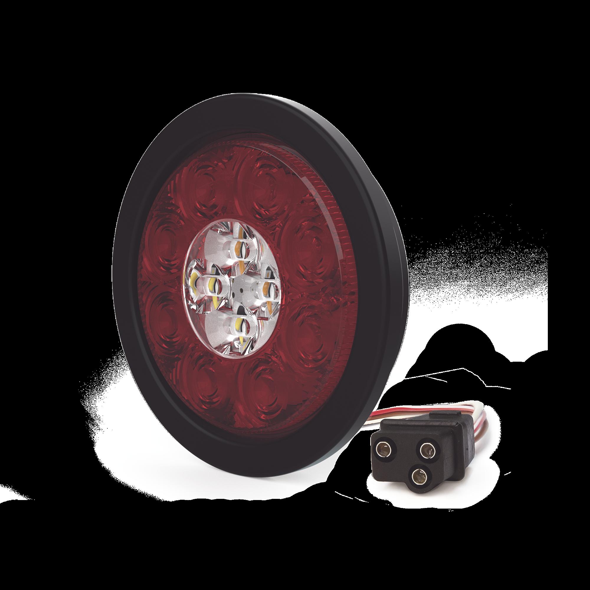Luz perimetral, 16 LEDs Ultra Brillantes, color Rojo/Claro/Ambar