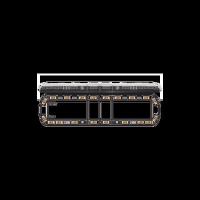 """Torreta ámbar de 60"""" Vantage ™ 20 LED   2 luces de trabajo, 2 luces de callejón, 2 luces de freno, traseras, direccionales y director de tráfico"""