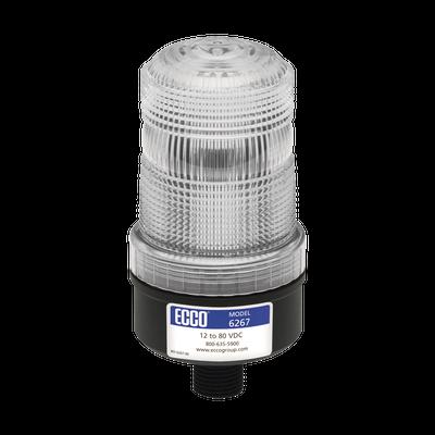 Mini baliza de LED color rojo montaje permanente SAE Clase III