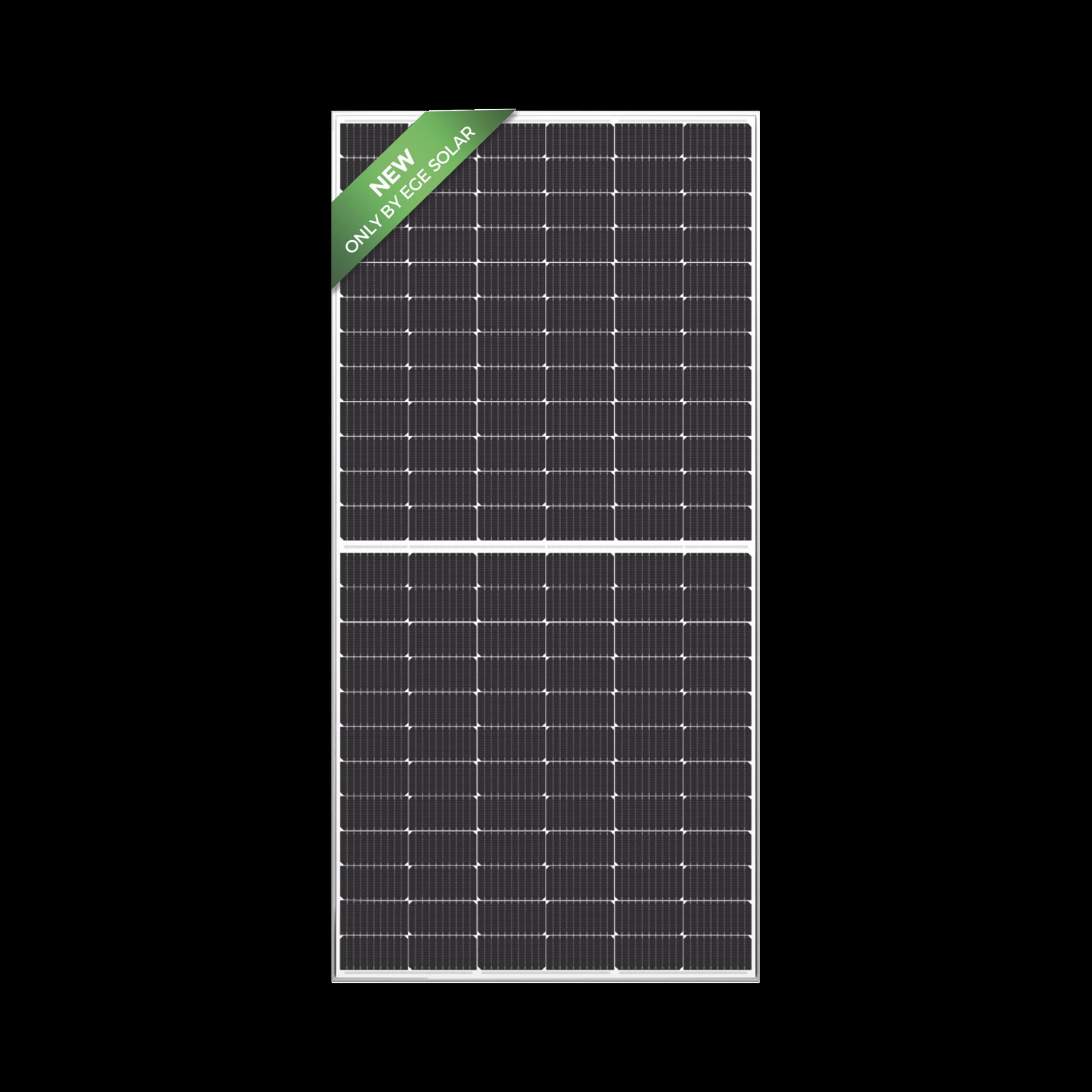 Modulo Fotovoltaico de 450 W Monocrsitalino de Celda Cortada Grado A PERC. 144 Celdas, Vidrio Templado de 3.2 mm
