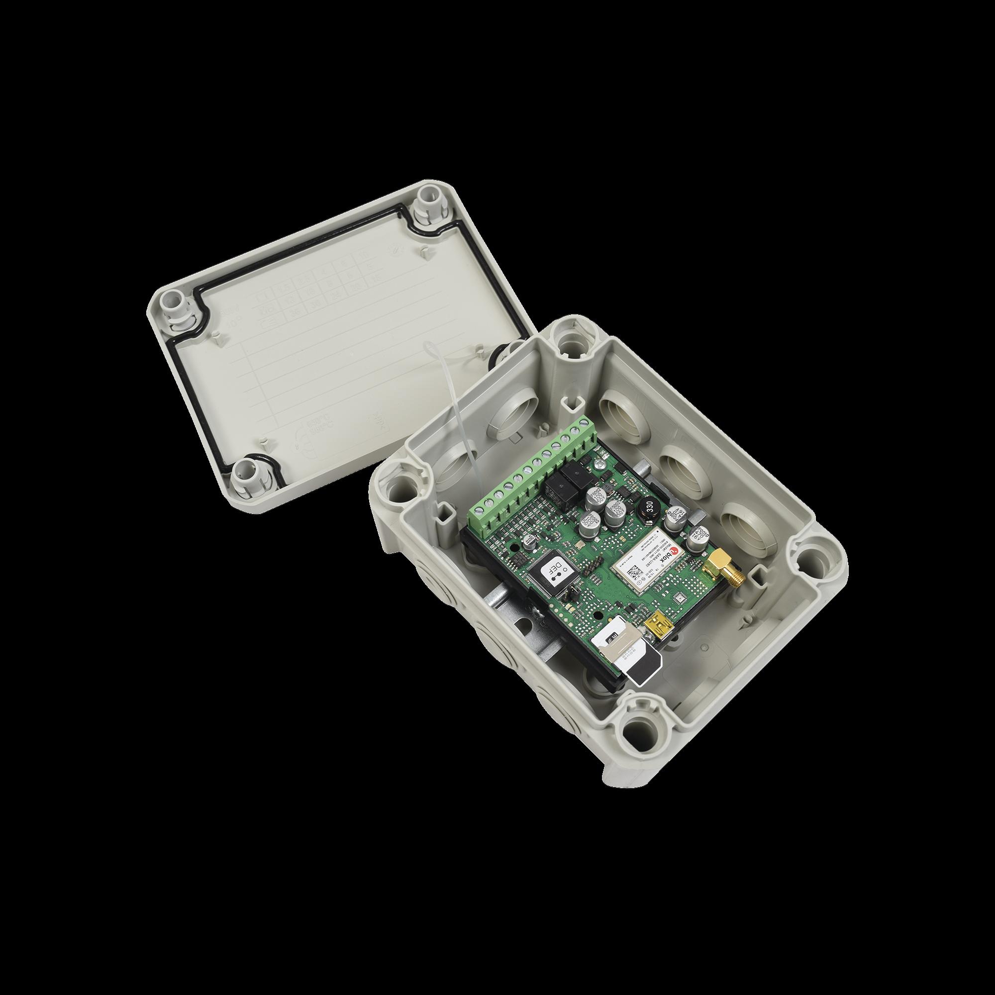 Controlador remoto 3G / Activación por medio de CELULAR (APP o LLAMADA) / Marcador / Caja Nema IP67 / 2000 Usuarios