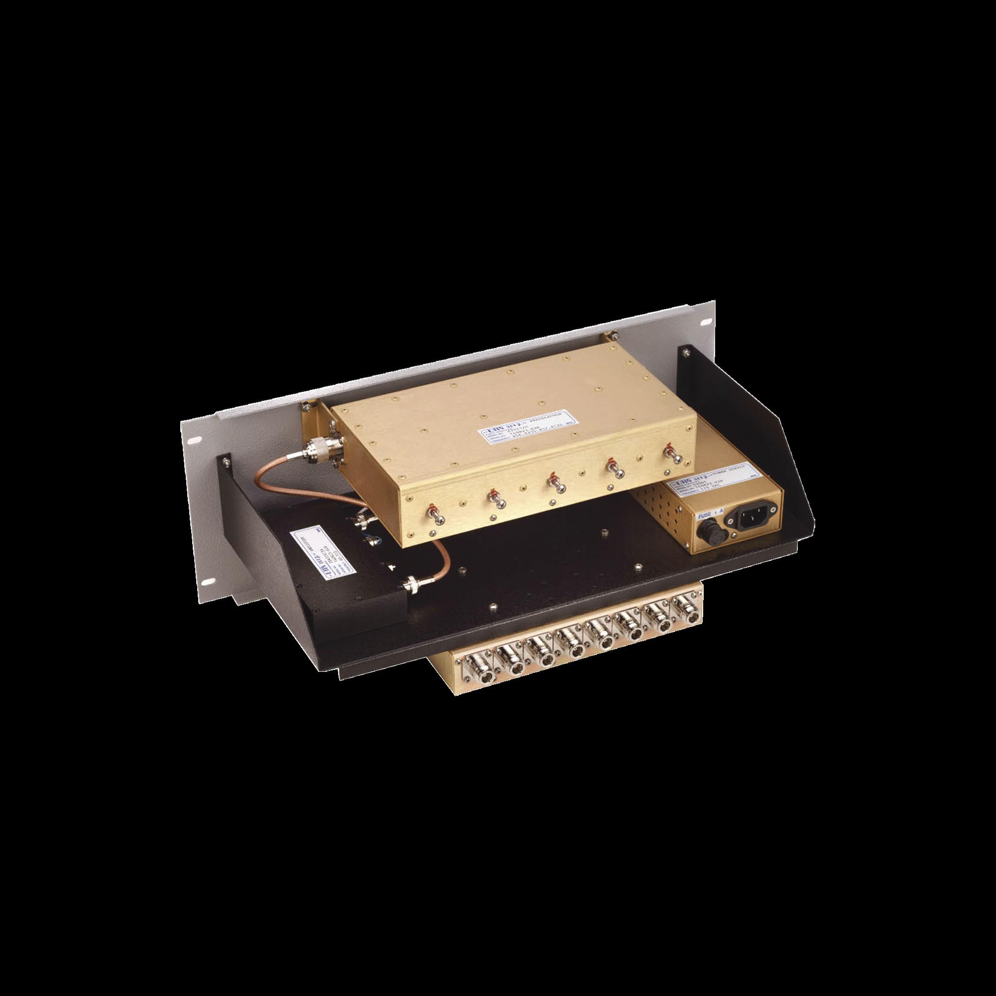 Multiacoplador y Preselector EMR, 300-512 MHz, 8 Canales, 3-10 MHz, N Hembras.
