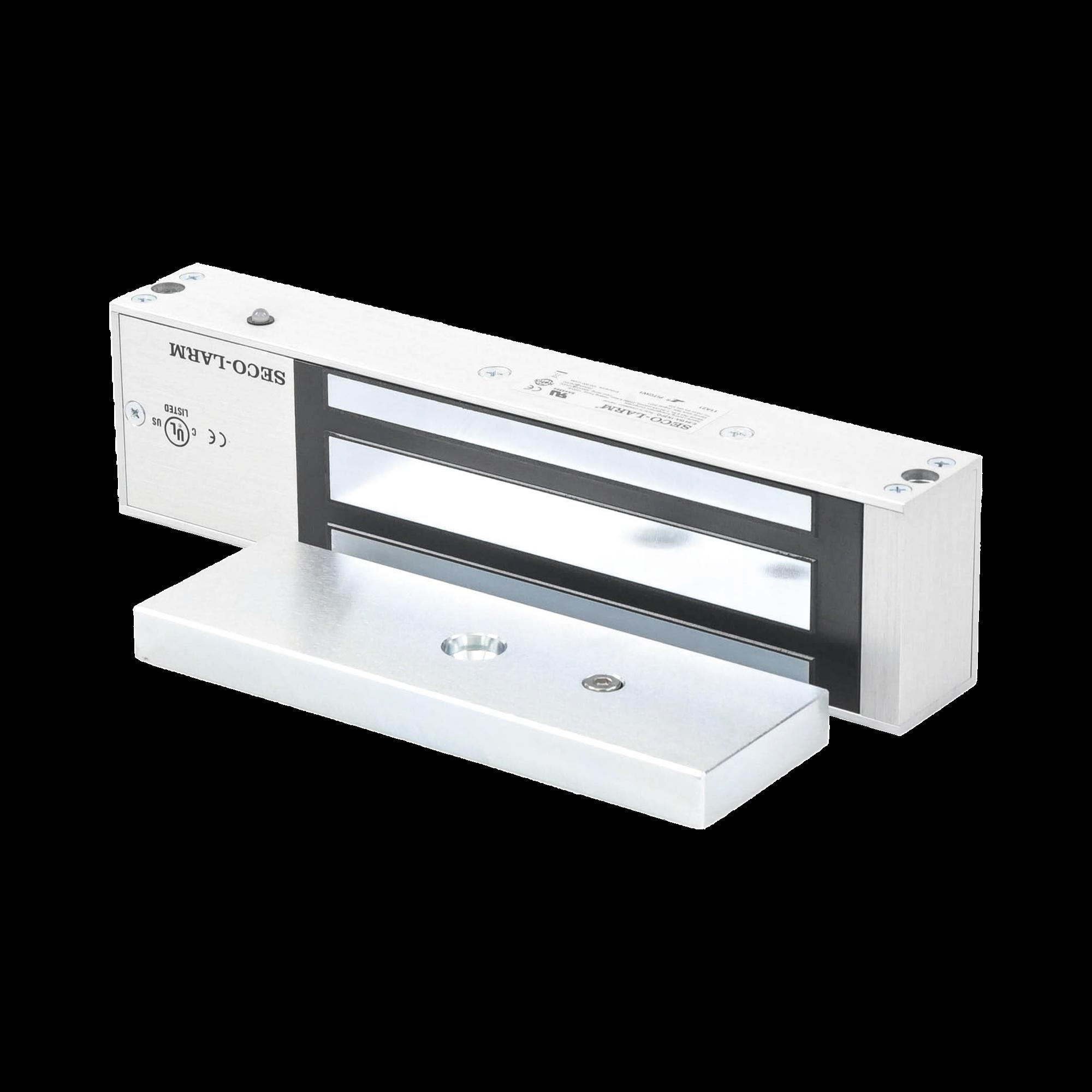 Cerradura Electromagnética de 1200-lb - Sensor de Retención, LED, Listada en UL