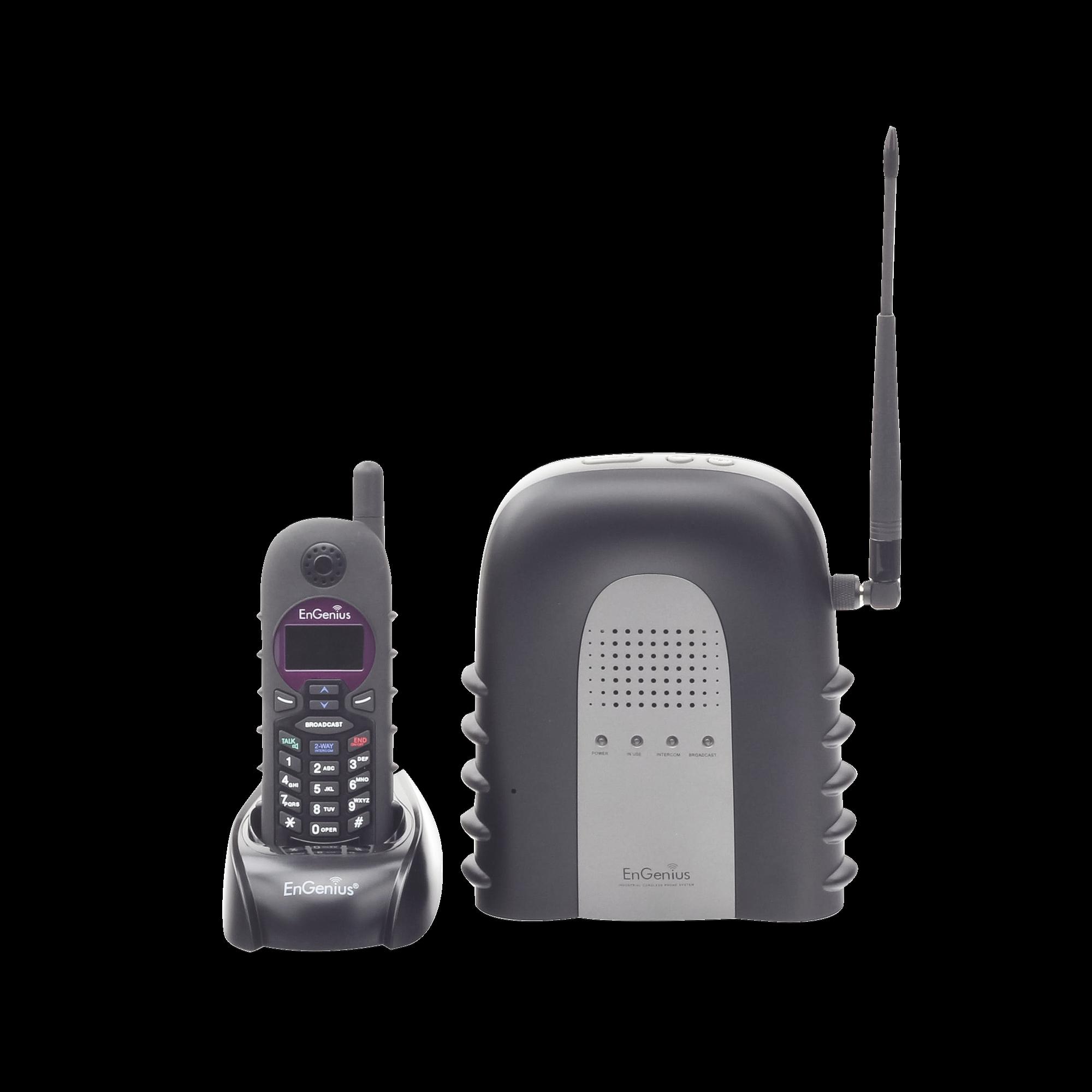 Sistema Telefonico IP de Largo Alcance / Hasta 23000 m? en Almacenes / Hasta 12 km? en Granjas o Ranchos / 12 Pisos de Penetracion / Funcion de Radio de 2 Vias/ Hasta 10 cuentas SIP