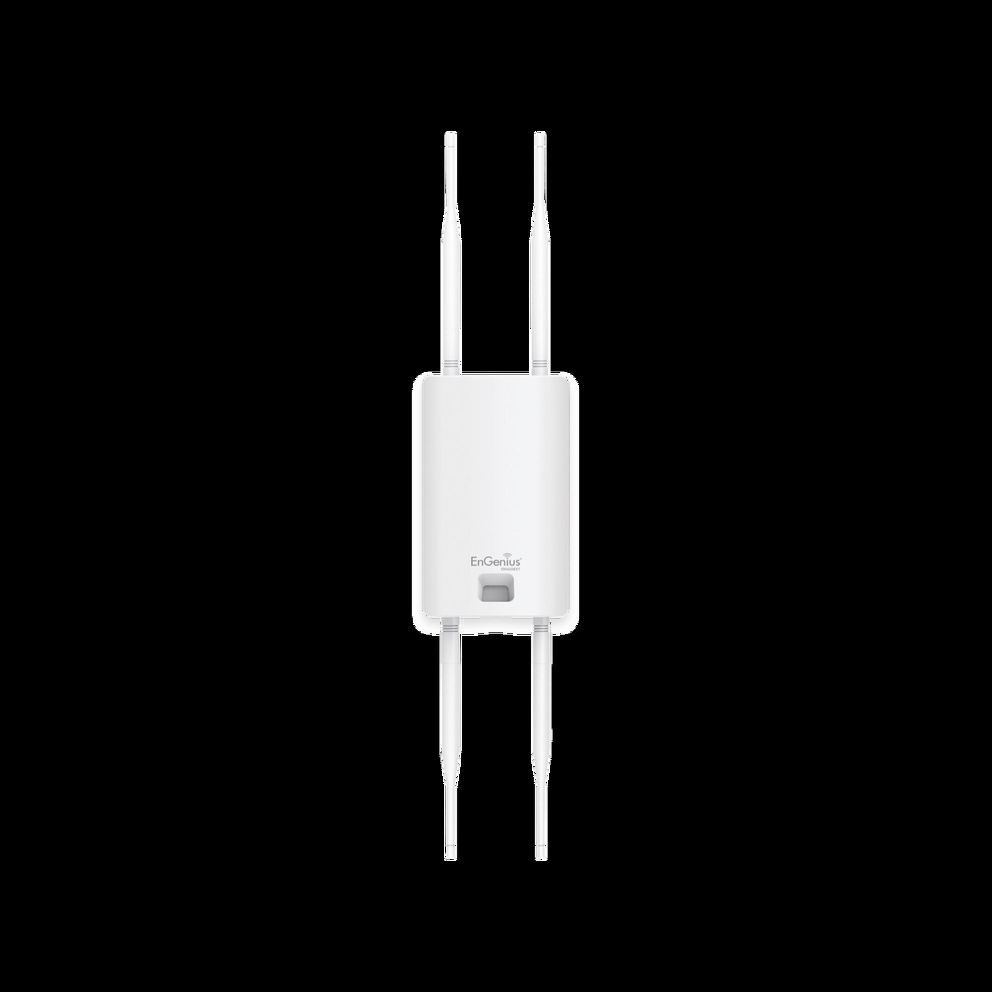Punto de Acceso Mesh y Repetidor WiFi para Exterior MU-MIMO 2x2, Hasta 1267 Mbps, 500 mW de potencia, 250 Clientes Simultáneos, Doble Banda en 2.4 y 5 GHz.