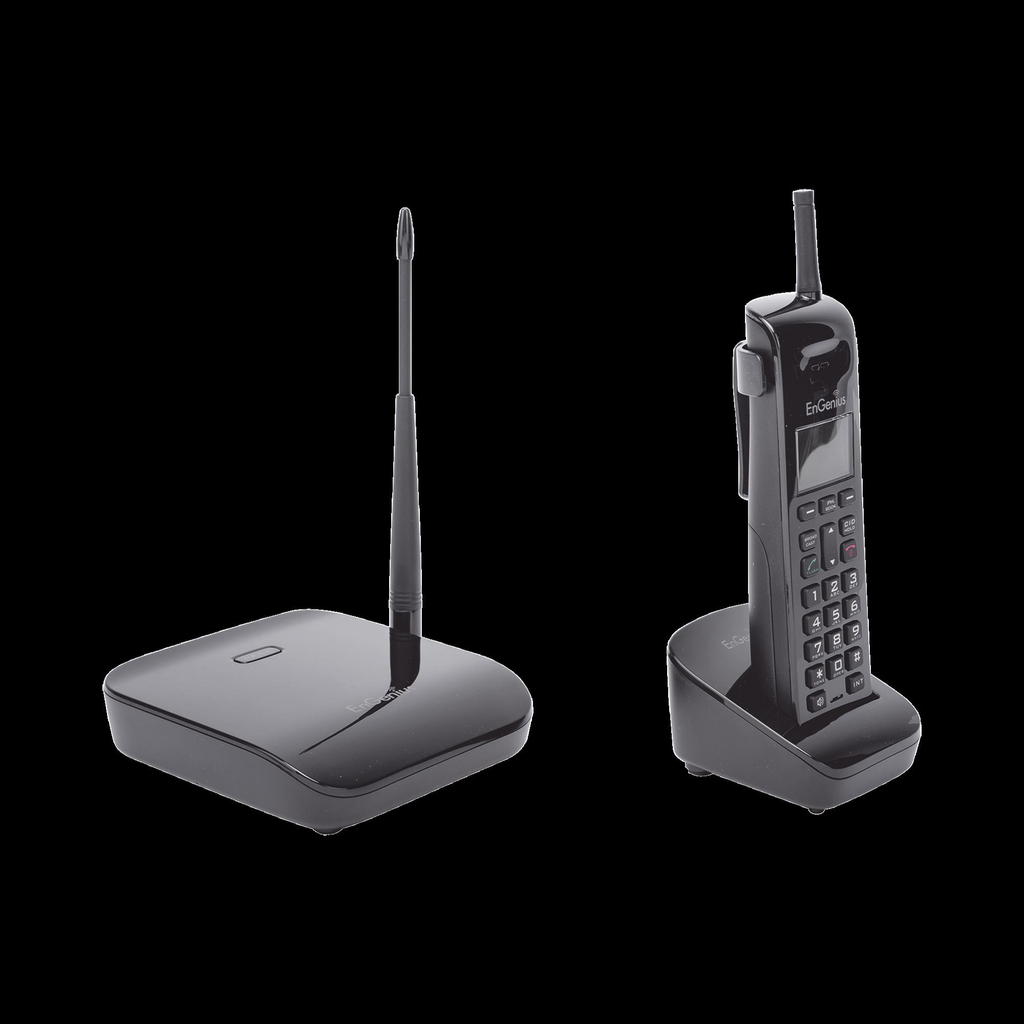 Sistema Telefónico de Largo Alcance Ideal para Oficina/Hasta 9290 m? en Tiendas o Almacenes/ Hasta 40468 m? en Granjas/ Hasta 6 Pisos de Penetración en Edificios