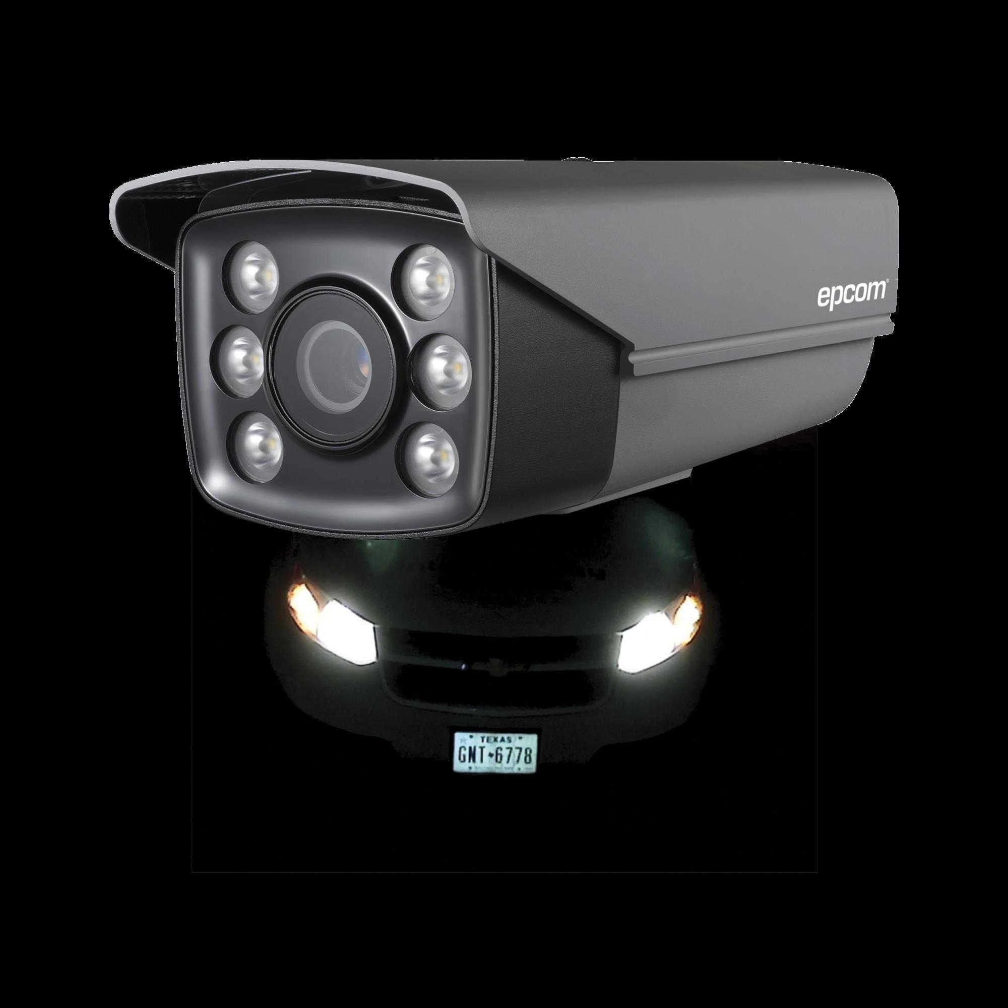 Bala TURBOHD 720p / Identificación de PLACAS VEHICULARES / CLIMAS EXTREMOS / Lente Mot. 6 a 22 mm / Luz Blanca 40 mts / Exterior IP66