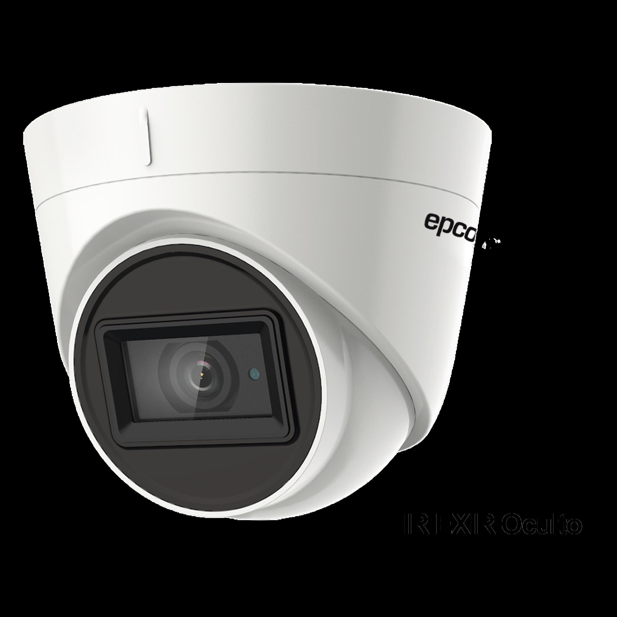Eyeball 4K (8 Megapixeles) TURBOHD / Gran Angular / Lente 2.8 mm / Potente IR EXIR 60 mts / Exterior IP67.