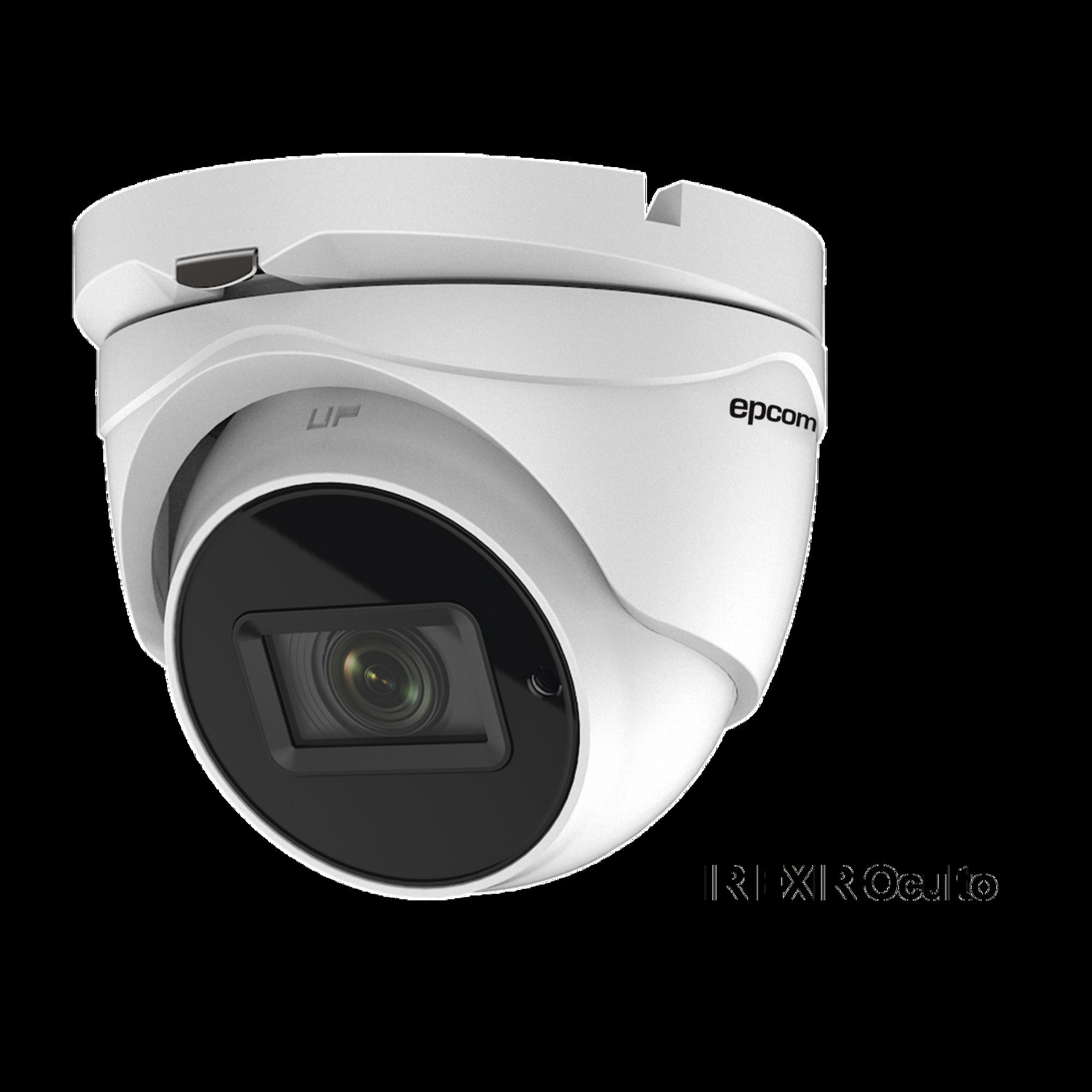 Eyeball 4K (8 Megapixeles)TURBOHD / Lente Mot. 2.7 a 13.5 mm / Potente IR EXIR 60 mts / Exterior IP67 / 9 a 15 VCD