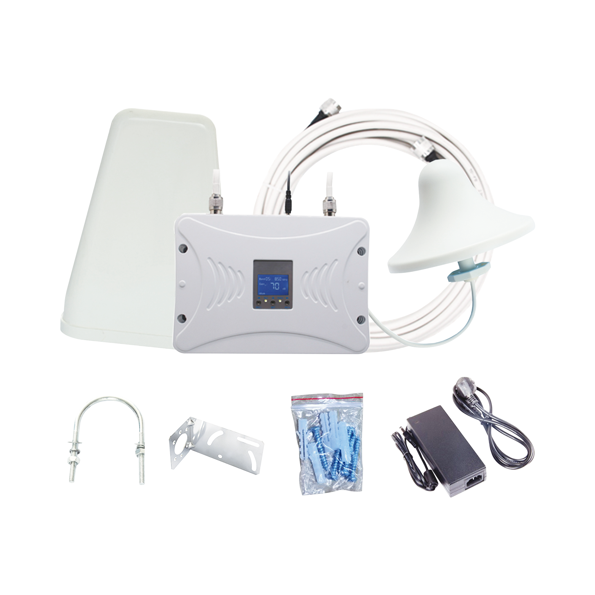 Kit Amplificador de Señal Celular 4G LTE | Funciona con Todos los Operadores | Soporta Múltiples Dispositivos y Tecnologías | Hasta 1000 metros cuadrados de Cobertura