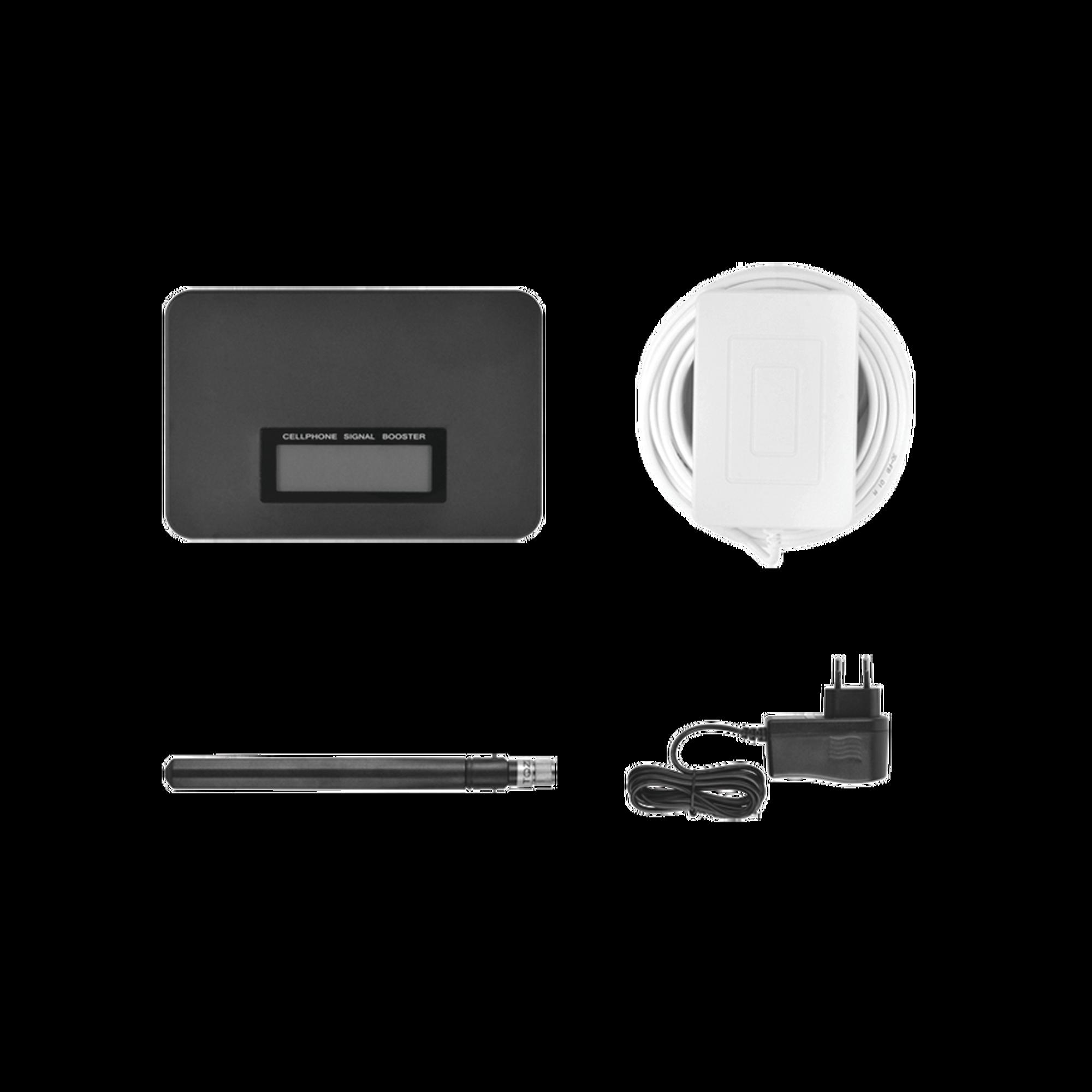 KIT de Amplificador de Señal Celular para Mejorar las llamadas telefónicas de TELCEL, MOVISTAR y AT&T | Mejora la transferencia de Datos 3G | Hasta 300 metros cuadrados de cobertura o de 1 a 3 habitaciones.