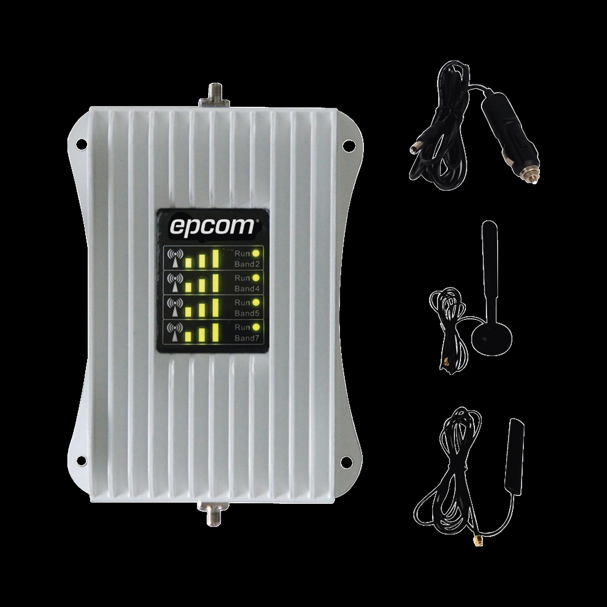 KIT de Amplificador de Señal Celular  Para Vehículo | Soporta y Mejora la Señal Celular 4.5G, 4G LTE y 3G de cualquier Operador | Multiusuarios, ideal para cualquier tipo de Vehículo de Pasajeros, Camioneta, Pick up o Sed&aacut