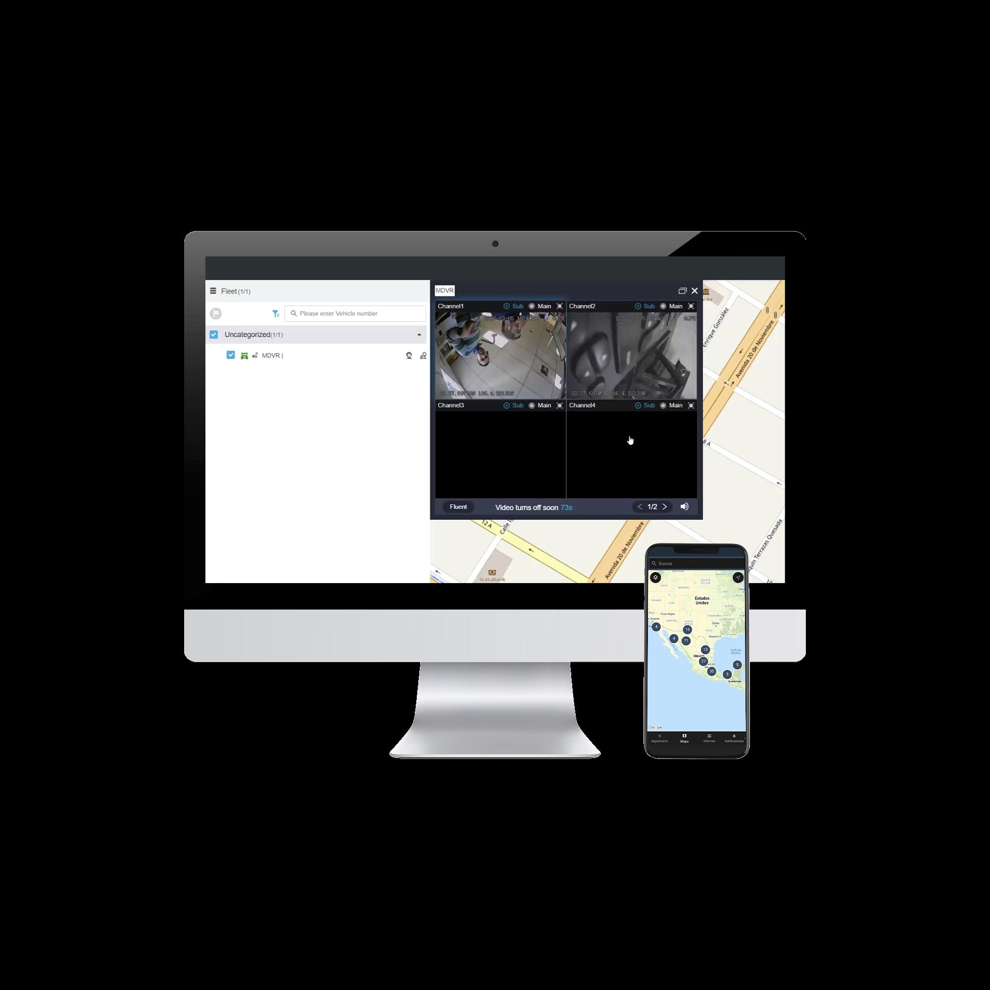 Plataforma Avanzada para Rastreo GPS, VIDEO Movil y Telemática Vehicular / Mensualidad (Licencia para 1 localizador GPS)