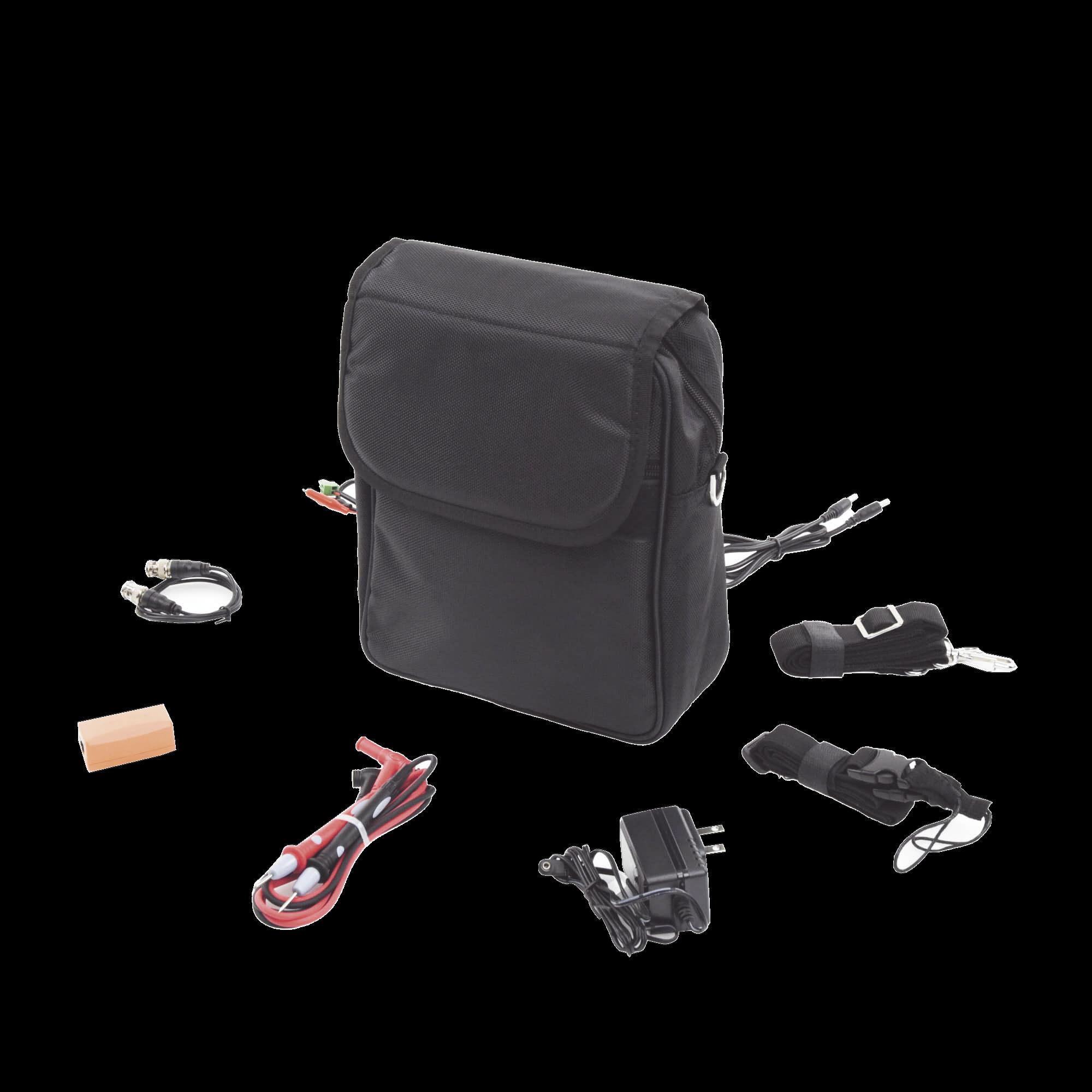 Kit de accesorios para probadores de vídeo EPMONTVI incluye: maleta, probador de cable, cables de conexion.