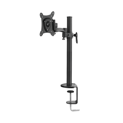 "Montaje de escritorio articulado para monitores de 13 a 27"", carga máxima 15kg, Vesa 75x75/100x100."