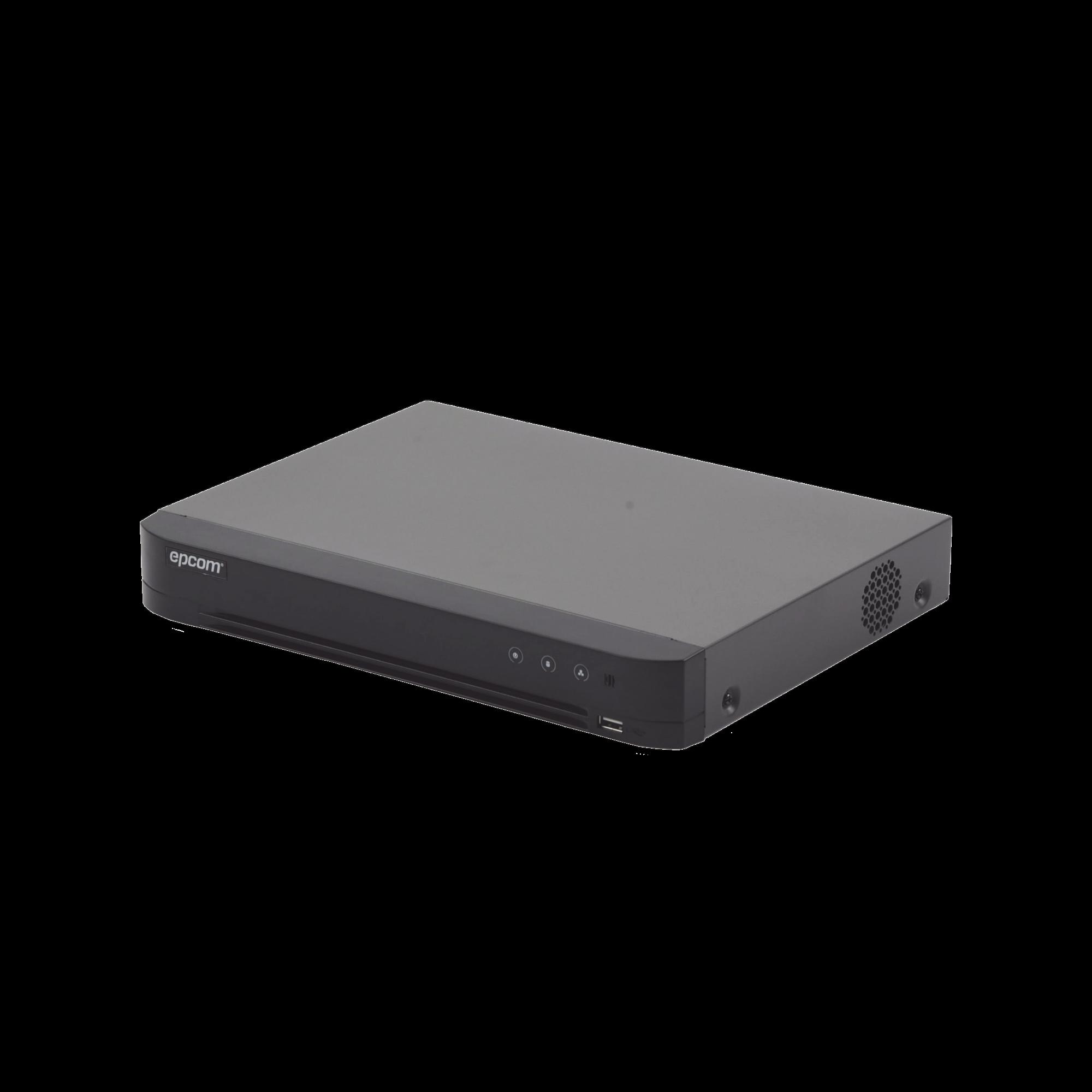 DVR 4 Megapixel / 4 Canales TURBOHD + 2 Canales IP / Detección de Rostros / 1 Bahía de Disco Duro / Audio por Coaxitron / Evita Falsas Alarmas / Salida de Vídeo en Full HD