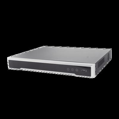 DVR 8 Megapixel / 16 Canales 4K TURBOHD + 16 Canales IP / 2 Bahías de Disco Duro / 4 Canales de Audio / Audio por coaxitron / 16 Entradas de Alarma