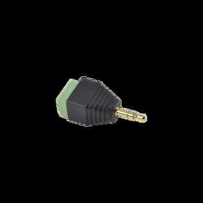 Adaptador para audio y video de 3.5 mm con terminal atornillable