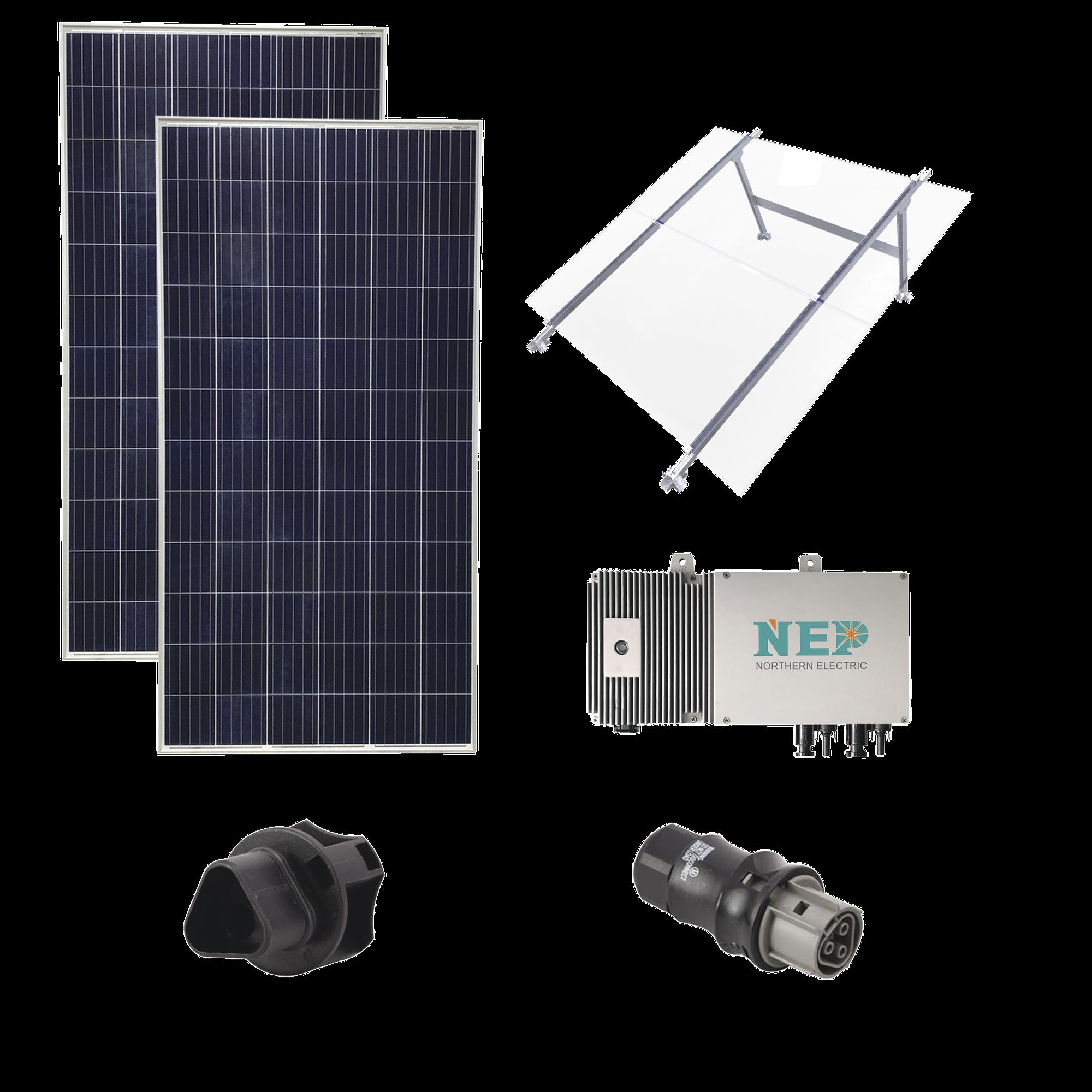 Kit Solar para Interconexión de 550 W de Potencia, 127 Vca con Microinversores y Paneles Policristalinos.