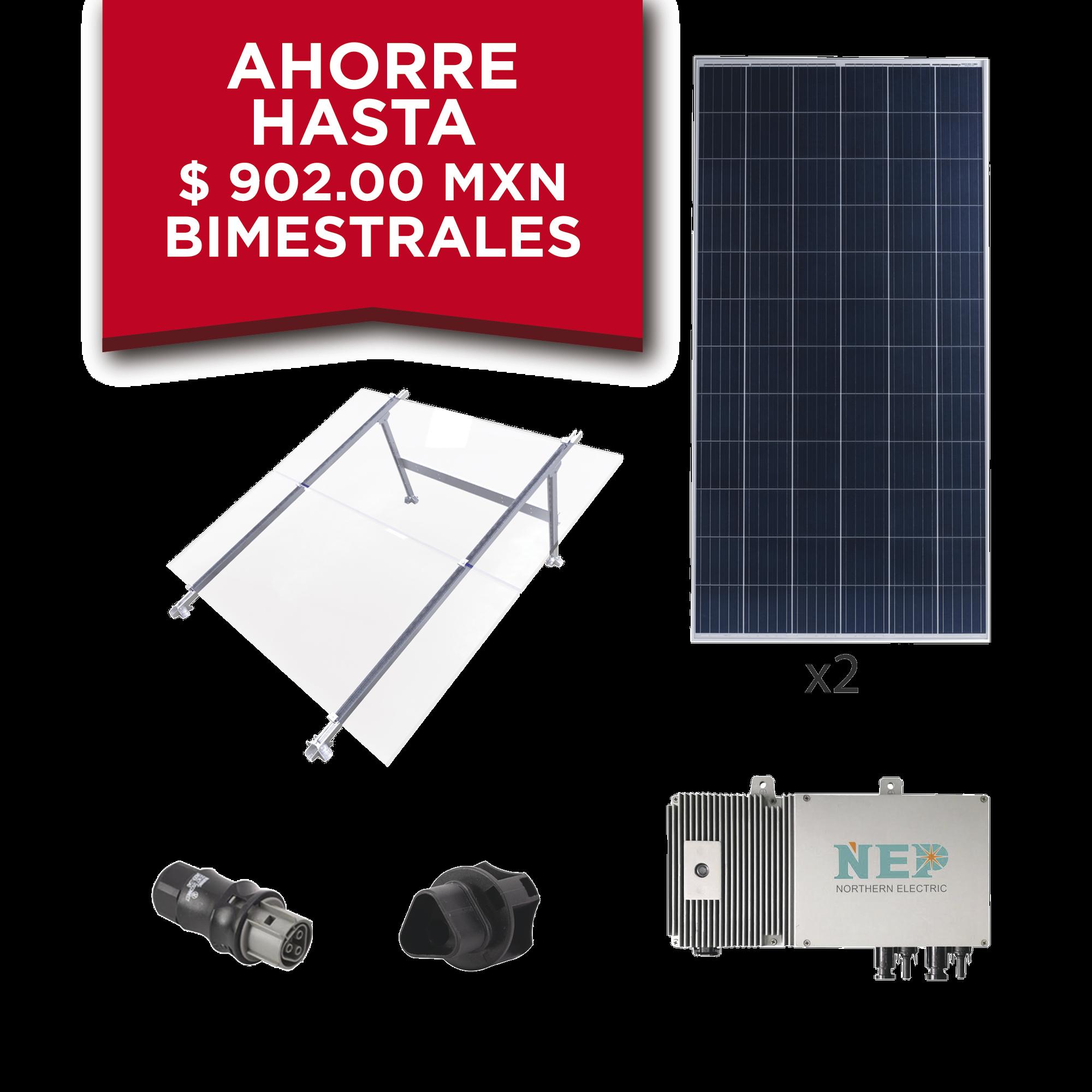 Kit Solar para Interconexión de 550 W de Potencia, 220 Vca con Microinversores y Paneles Policristalinos