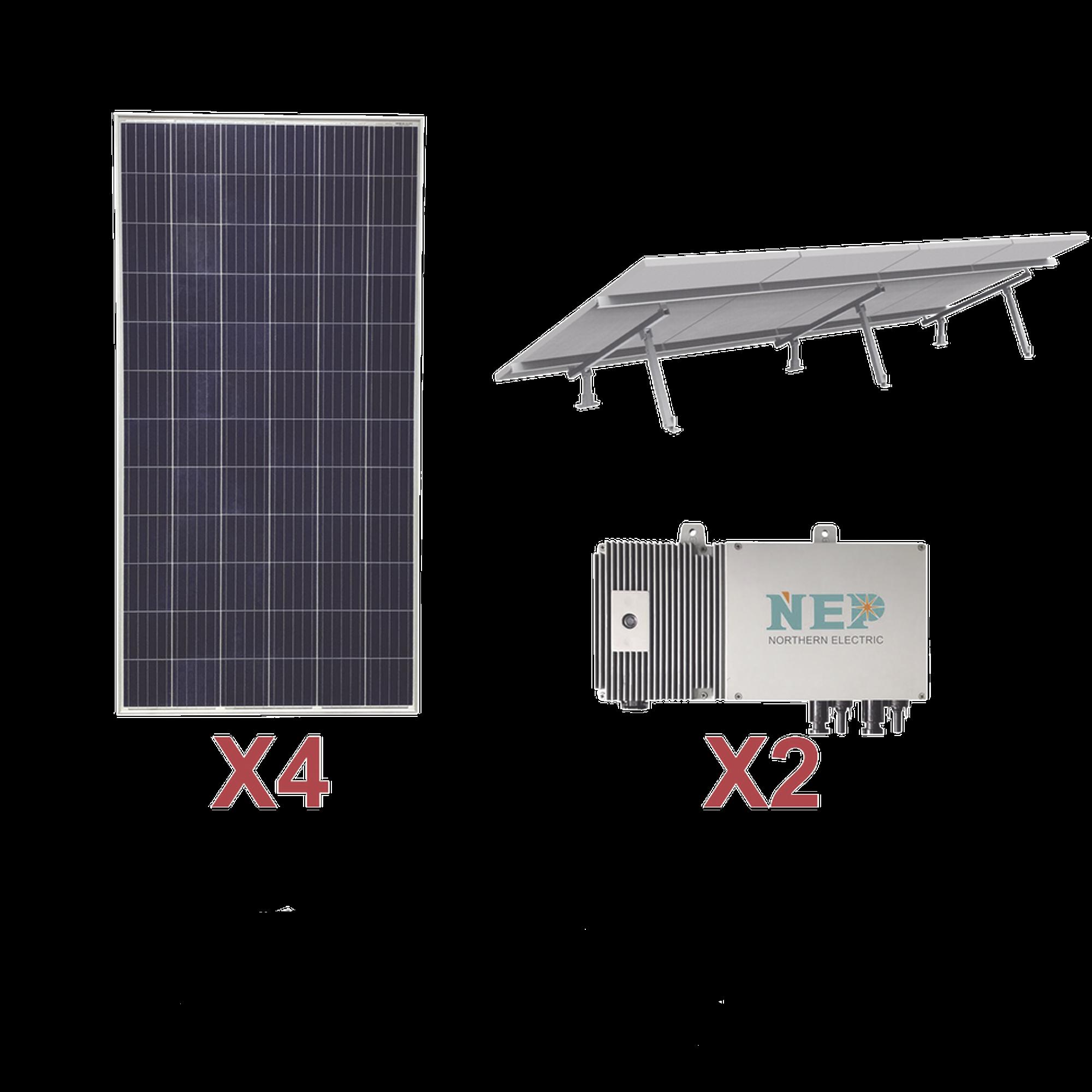 Kit Solar para Interconexión de 1.1 kW de Potencia, 110 Vca con Micro Inversores y Paneles Policristalinos.
