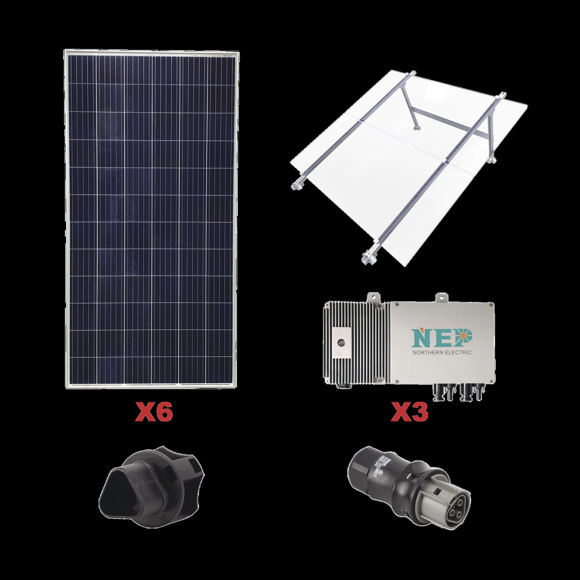 Kit Solar para Interconexión de 1.65 KW de Potencia, 110 Vca con Micro Inversores y Paneles Policristalinos.