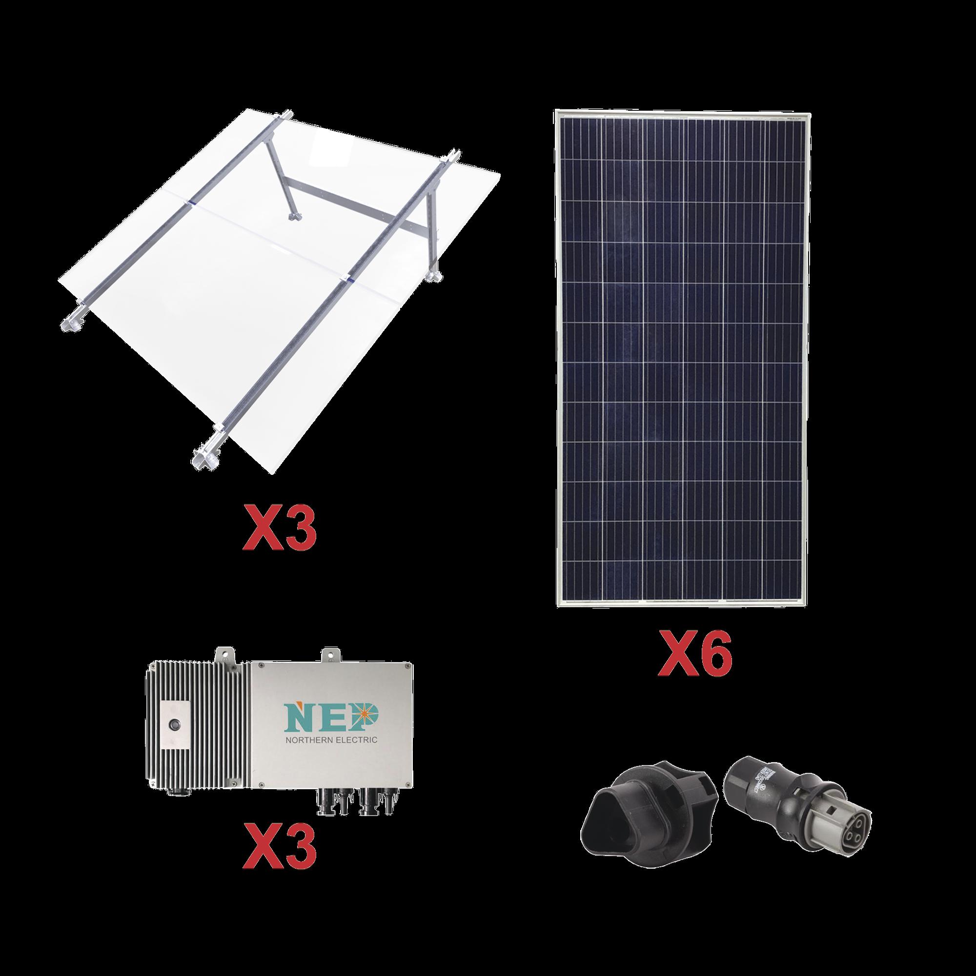 Kit Solar para Interconexión de 1.65 KW de Potencia, 220 Vca con Micro Inversores y Paneles Policristalinos.