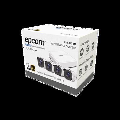 Sistema Completo de 4 Cámaras Bala TURBOHD 720p / DVR 4...