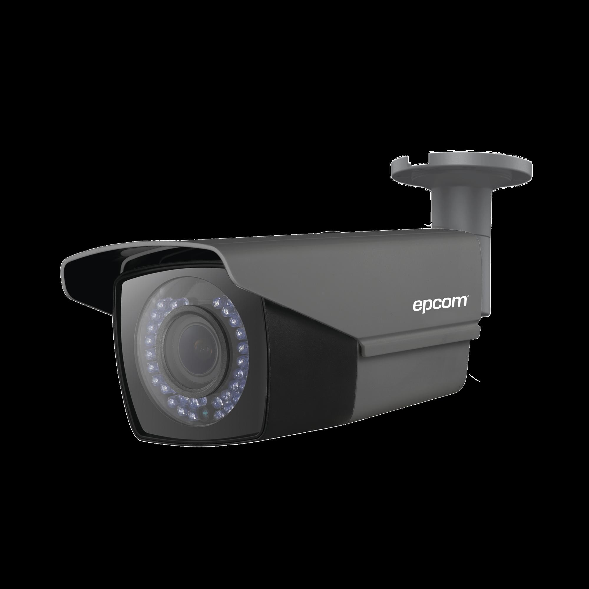 Bullet TURBOHD 720p / HÍBRIDA / CLIMAS EXTREMOS /  Lente Varifocal 2.8 a 12 mm / IR Inteligente 40 mts / Exterior IP66