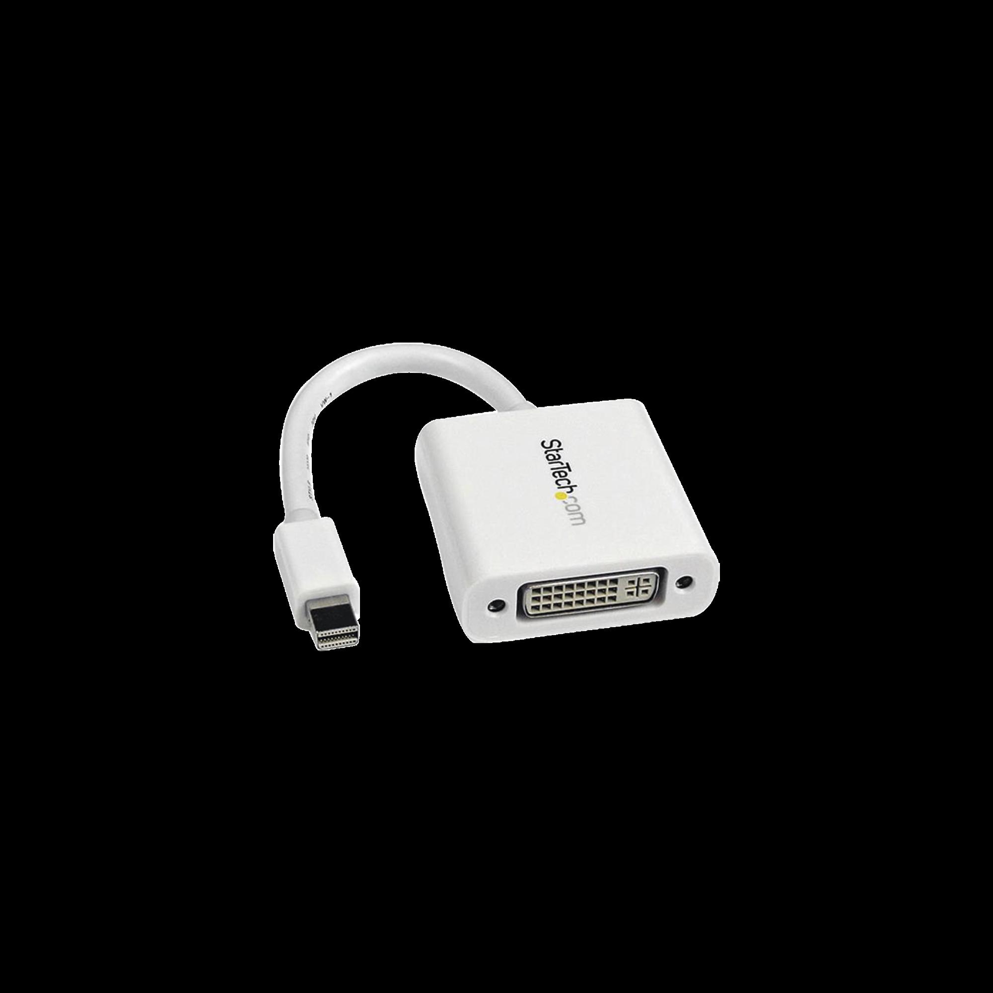 Adaptador Mini DisplayPort a DVI-I, soporta 1080P