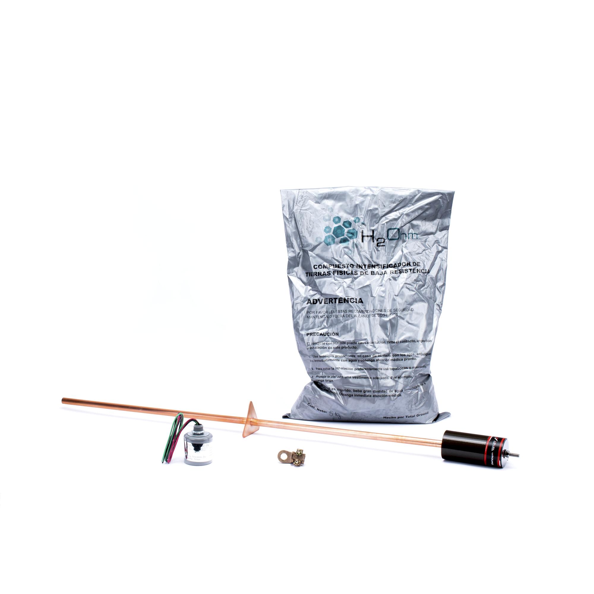 Kit de Tierra Física con Supresor de Descargas Atmosféricas en CD