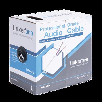 Cable para audio profesional de 2 conductores calibre 18 para aplicaciones de audio y automatización bobina de 152 m
