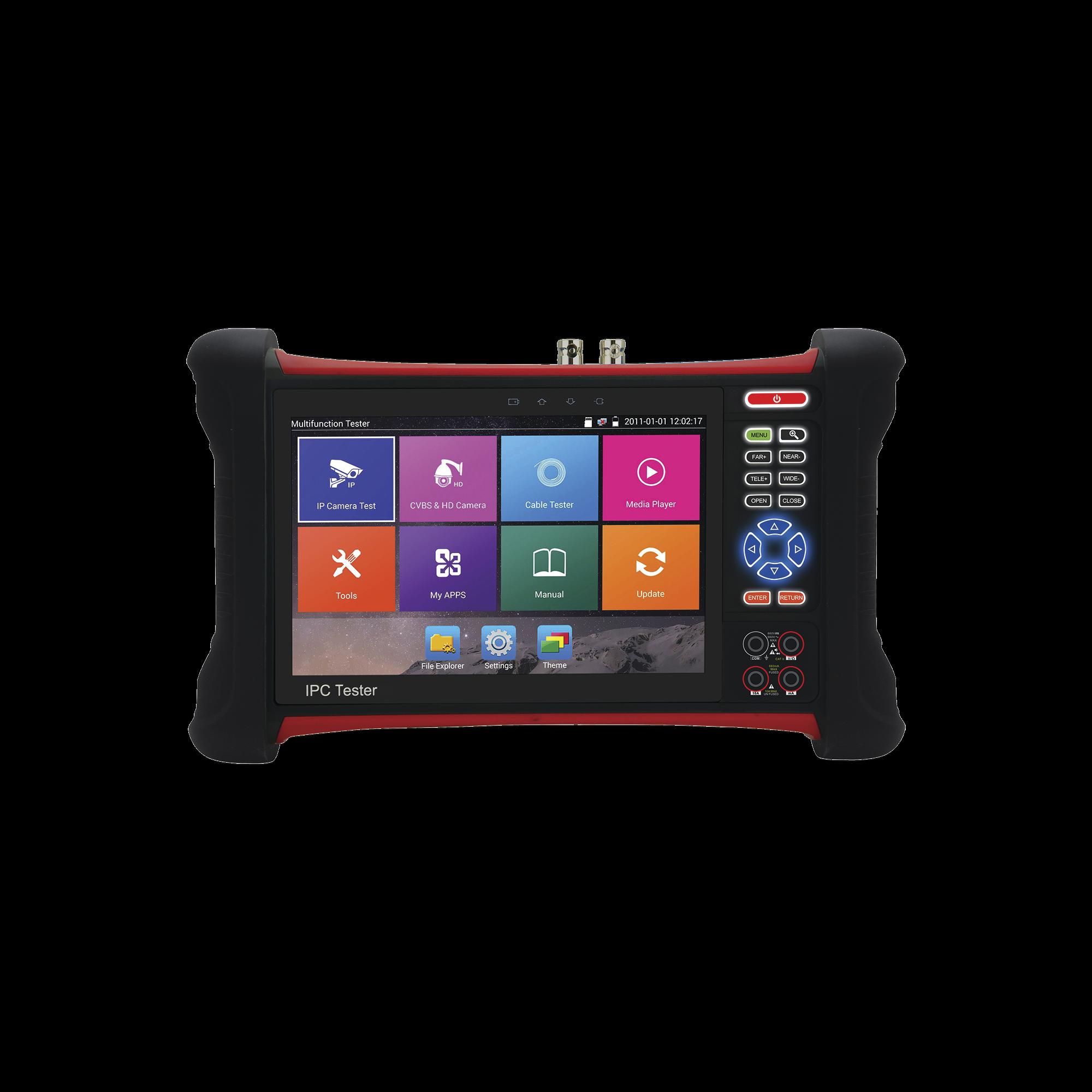 Probador de Vídeo Android con Pantalla LCD de 7 para IP ONVIF / HD-TVI 8MP (TurboHD) / Análogo, ONVIF, Wi-Fi, Scanner IP, WiFi, entrada HDMI