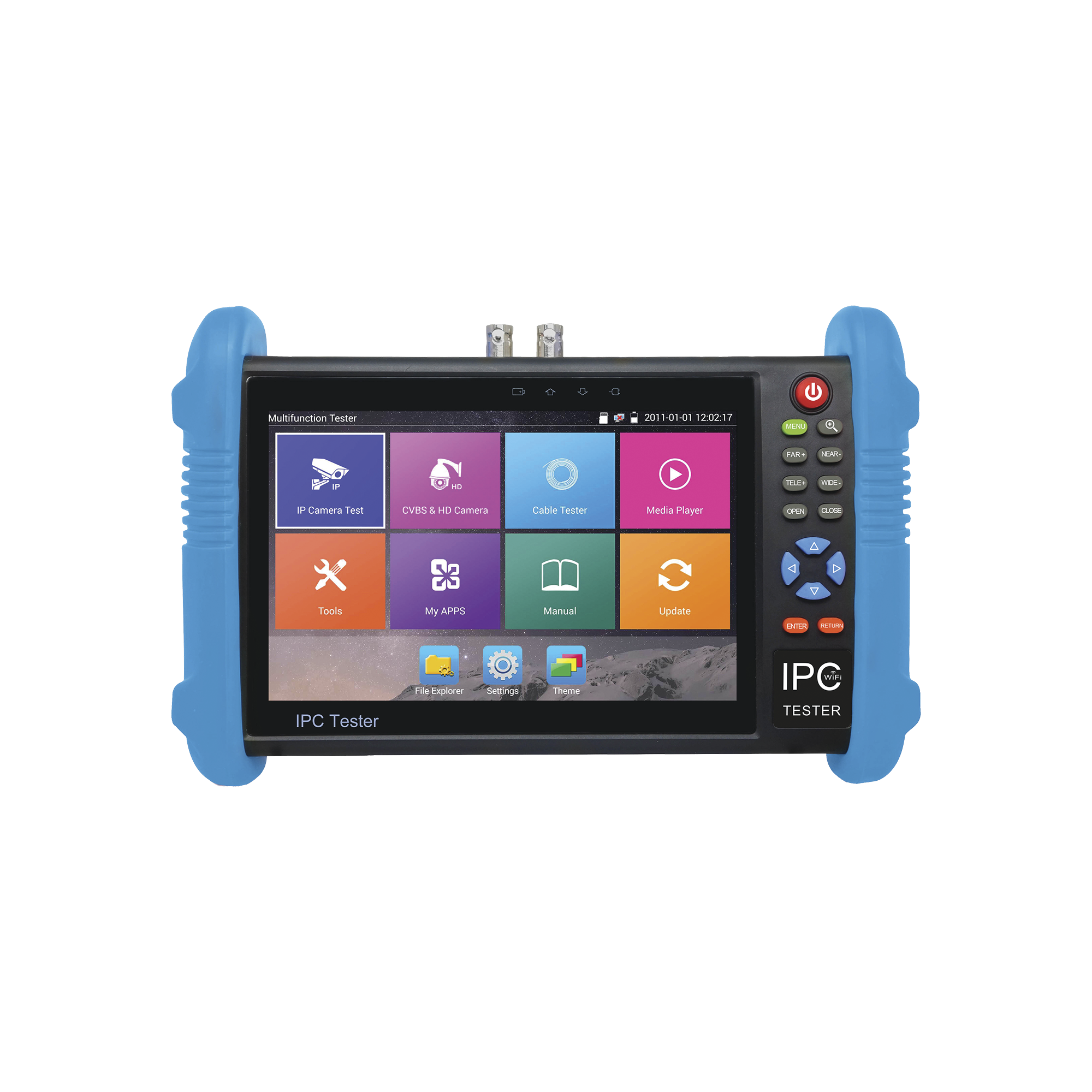 Probador de Vídeo Android con Pantalla LCD de 7 para IP ONVIF / HD-TVI 5MP (TurboHD) / Análogo, ONVIF, Wi-Fi, Scanner IP, WiFi, entrada HDMI