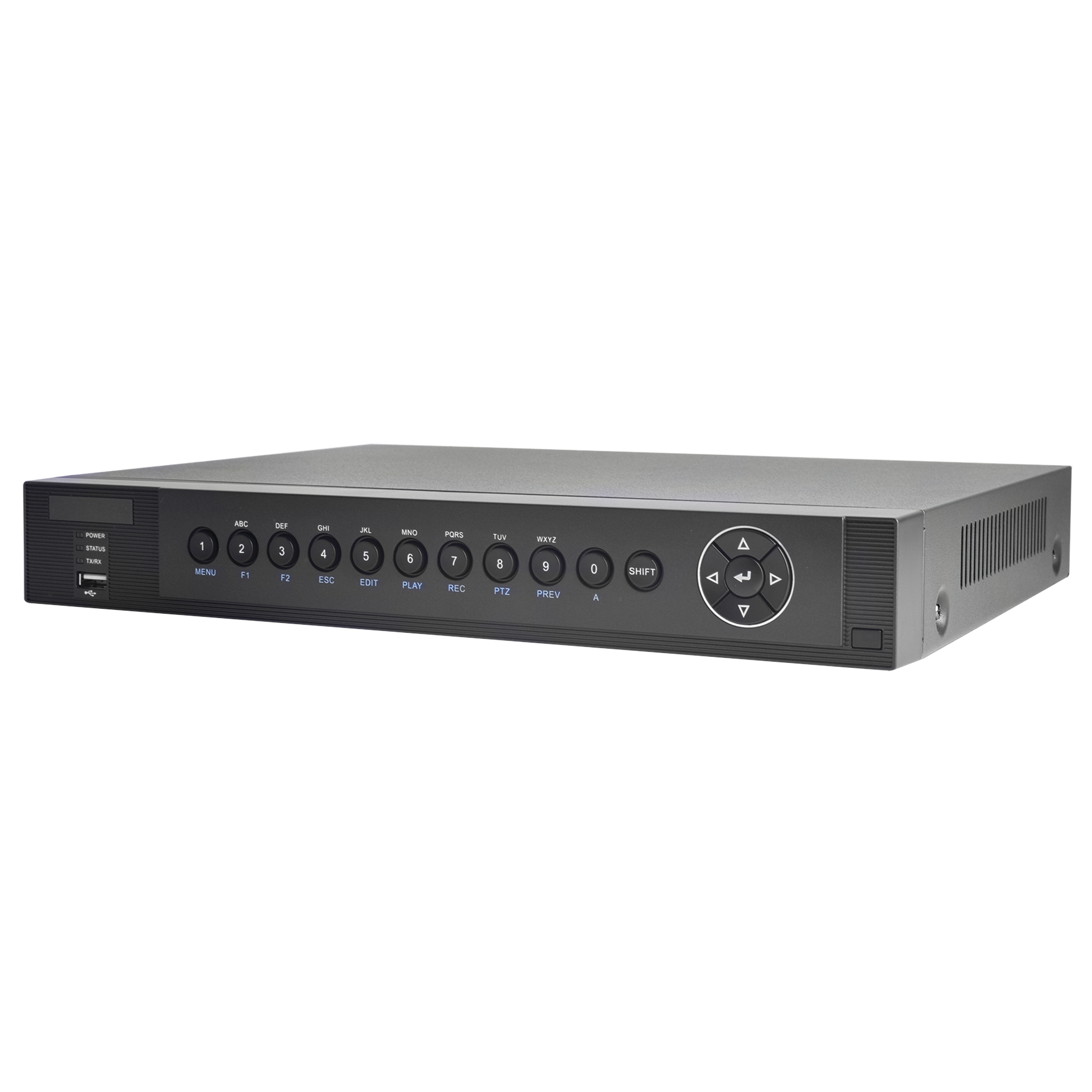 DVR 3 Megapixel PENTAHIBRIDO / 4 Canales TURBOHD + 1 Canal IP / 4 Canales Audio / 1 Bahía de Disco Duro / Entrada y Salida de Alarmas / H.264+