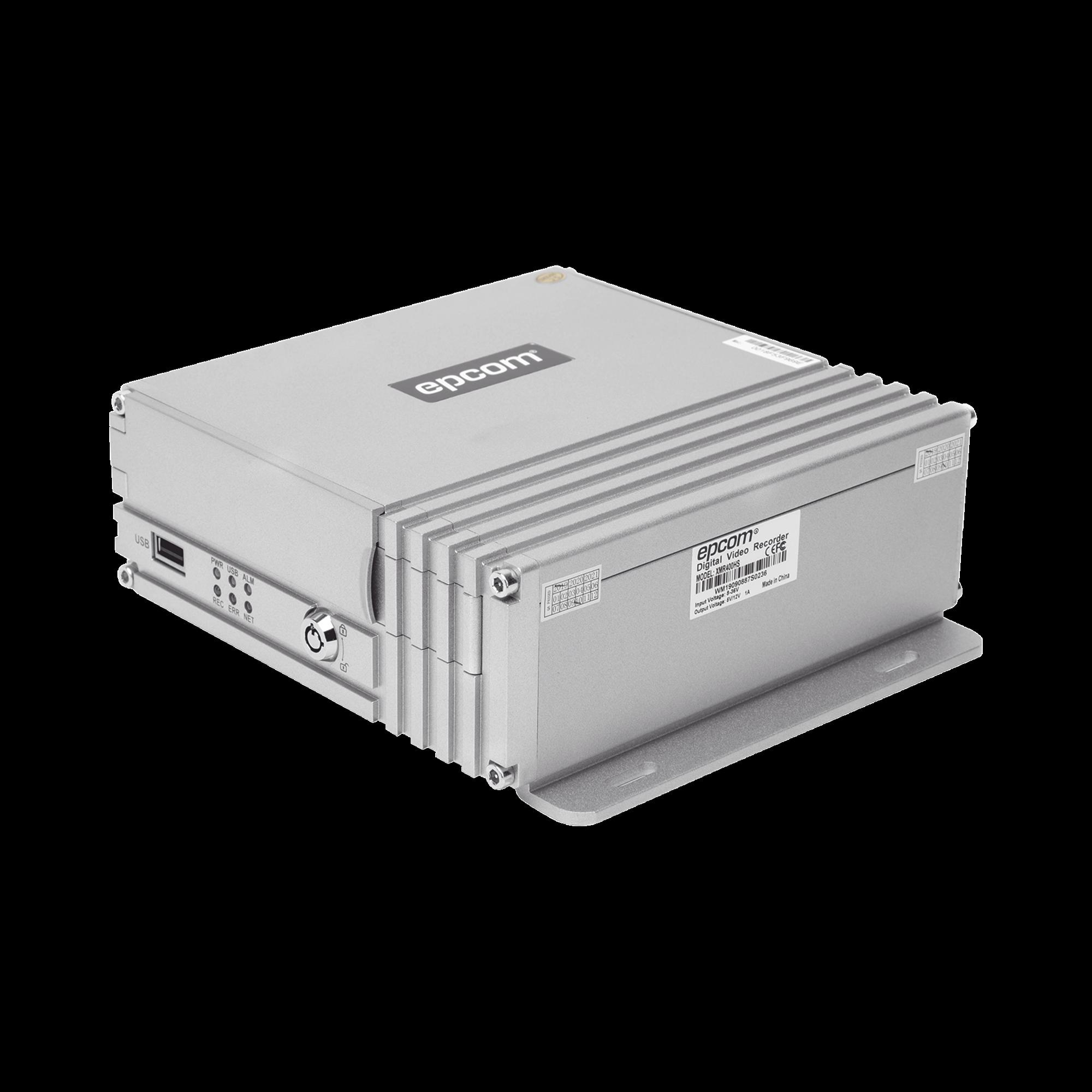 DVR movil / almacenamiento en HDD / 4 canales AHD hasta 2MP / compresion de video H.264