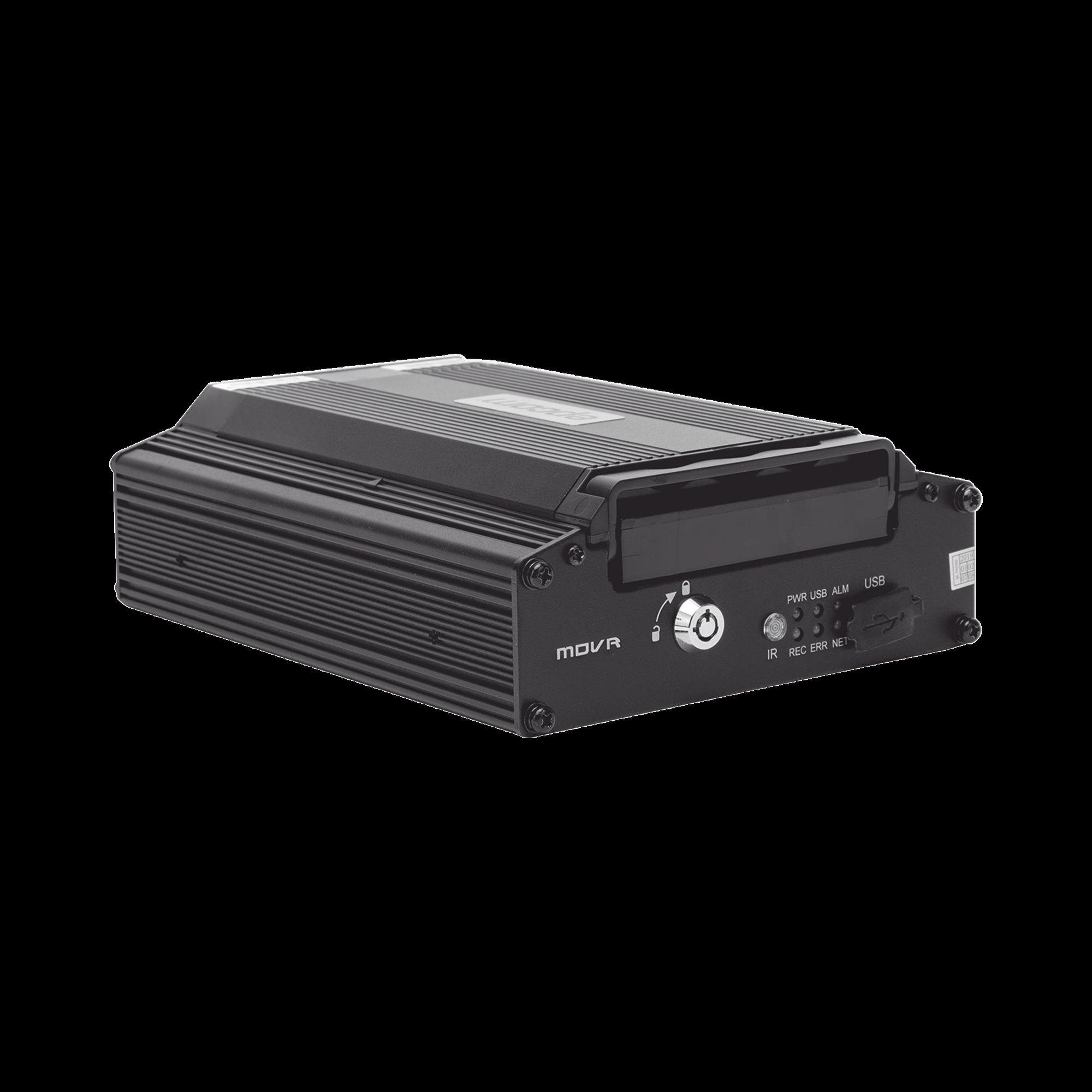 (NUBE EPCOMGPS) DVR móvil tribrido / almacenamiento en HDD / 4 canales AHD hasta 2MP + 1 canal IP hasta 2MP / compresión de vídeo H.265