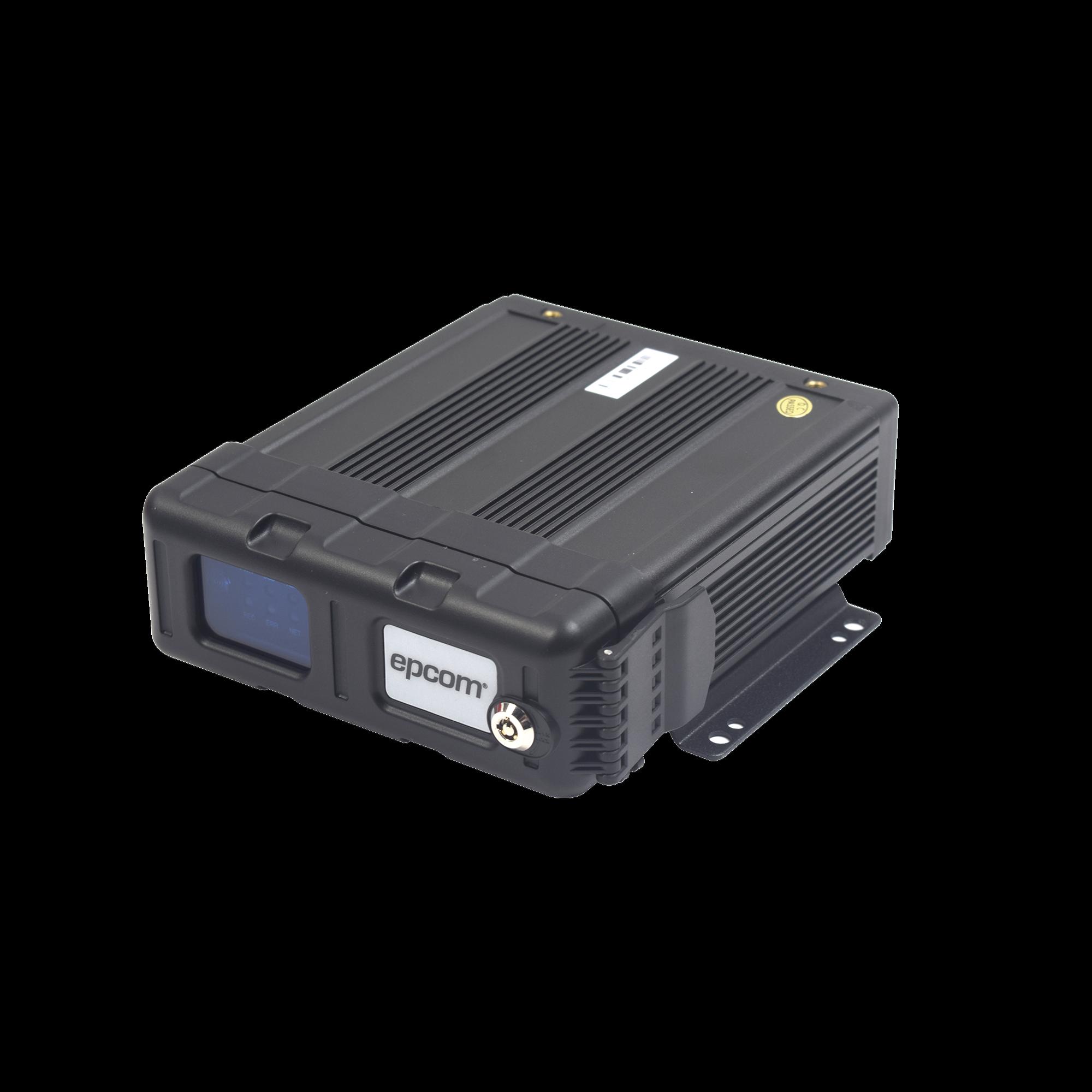 DVR móvil tribrido / no soporta transmisión de vídeo remota / almacenamiento en memoria SD / 4 canales AHD hasta 2MP + 1 canal IP hasta 2MP / compresión de vídeo H.265 /