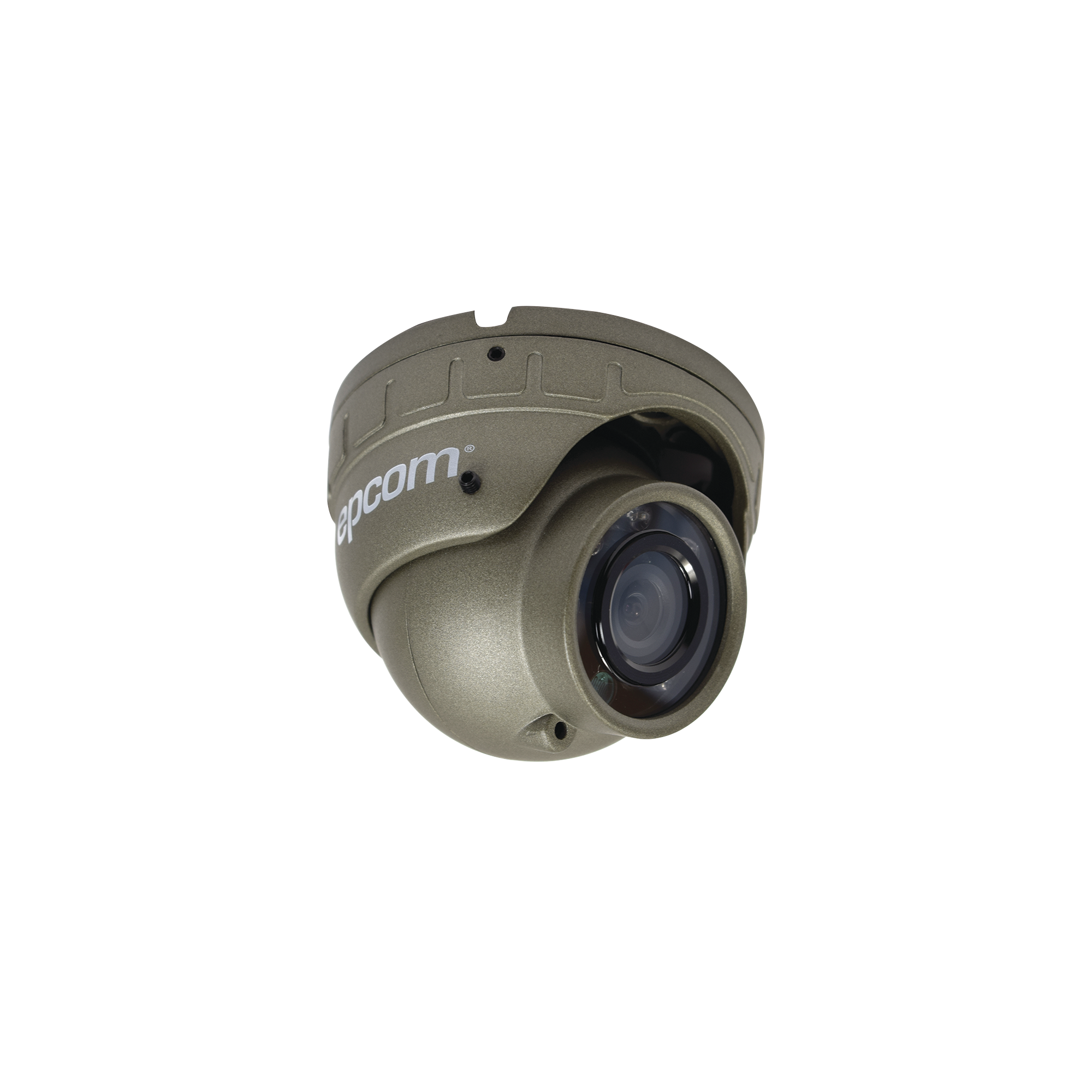 Domo Analógico 800TVL, Antivandálico 3.6 mm con micrófono compatible con DVRs móviles XMR EPCOM Series