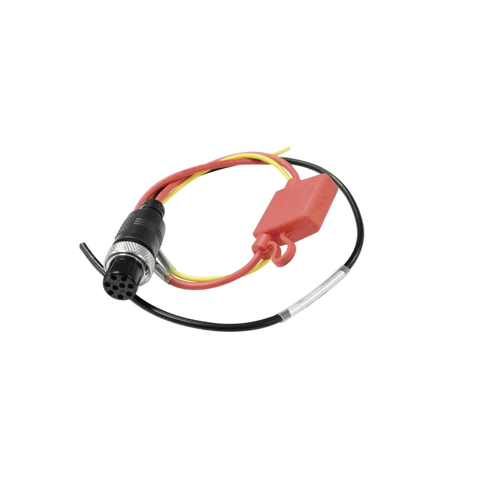 Cable de alimentación para XMR Series DVRs Moviles.