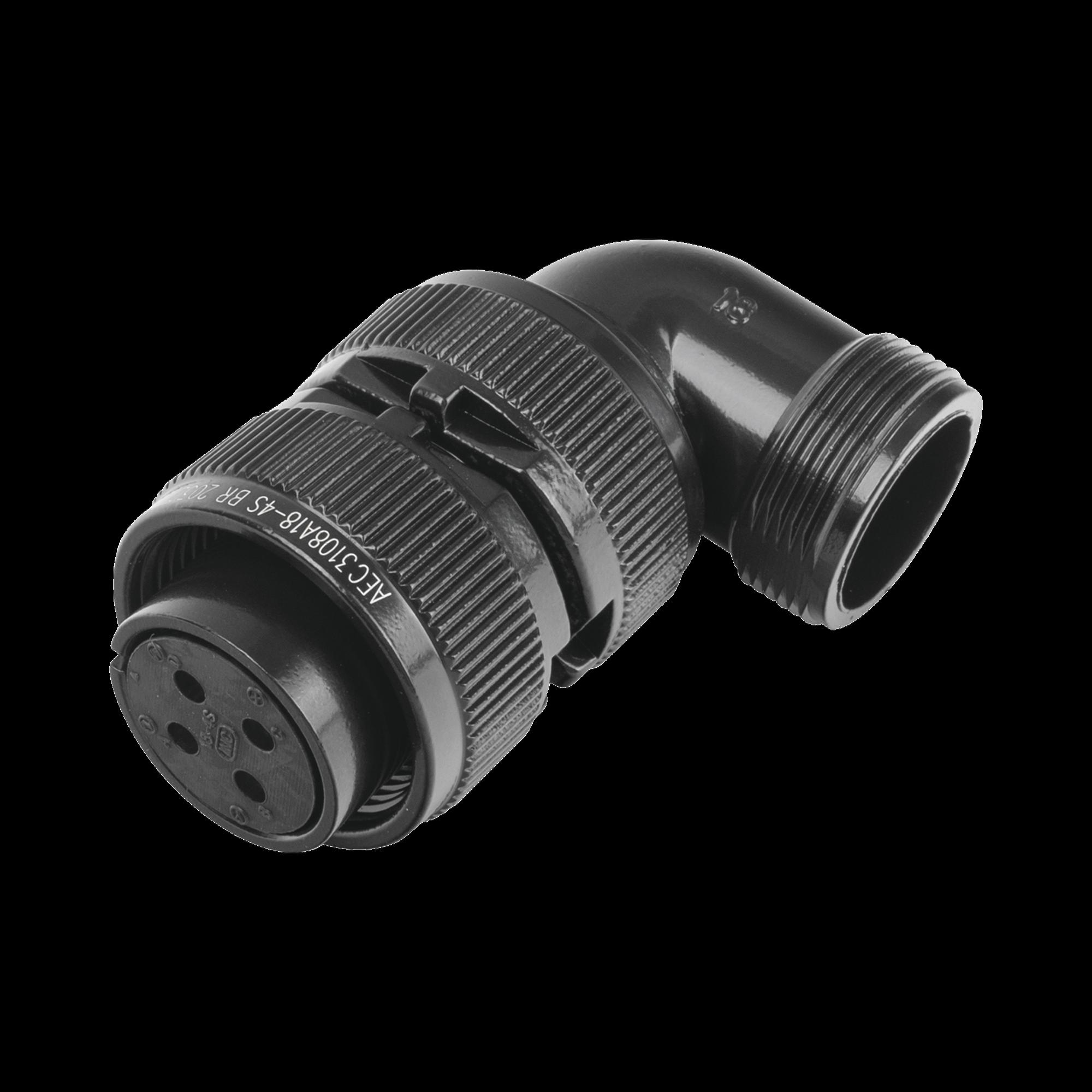 Conector Plug en ángulo Recto de 4 Contactos Hembra Soldables para Radio de Locomotora.